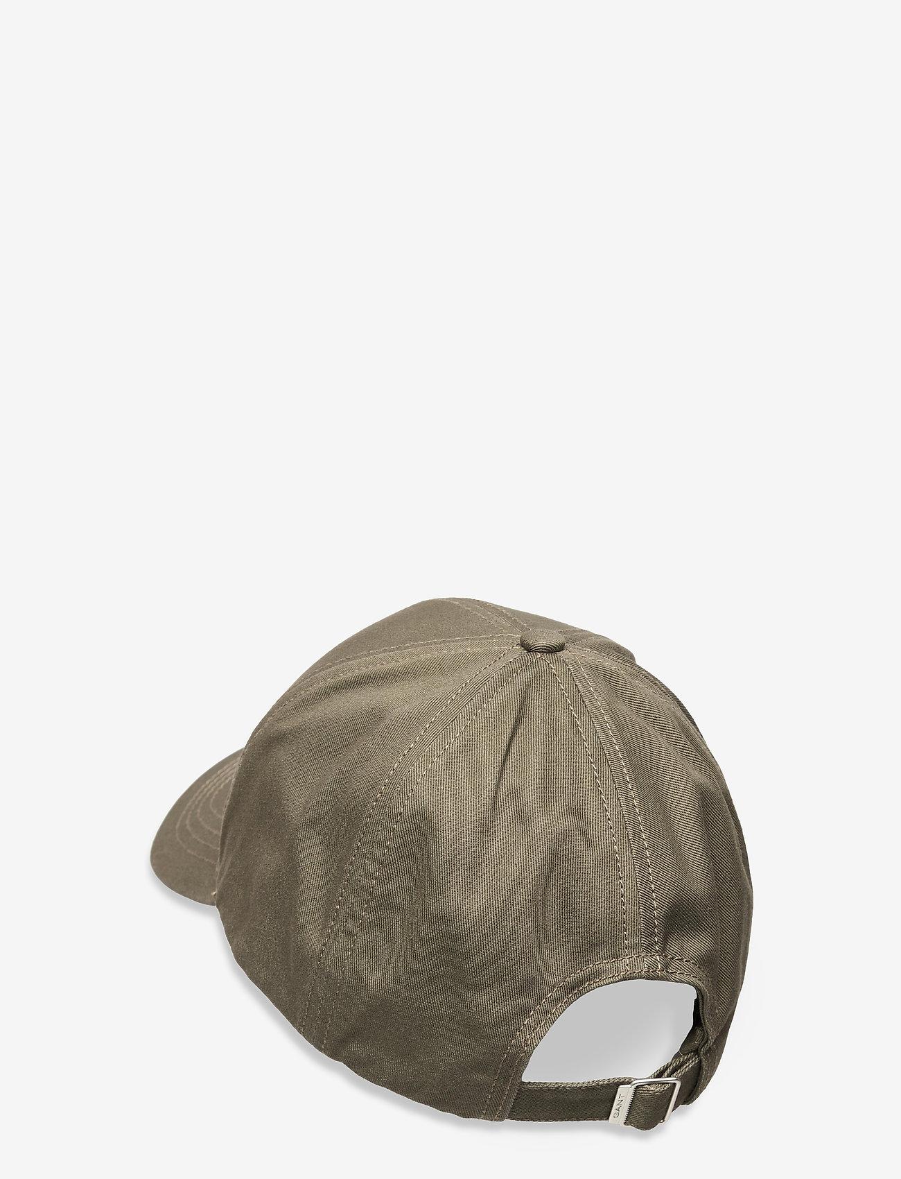 GANT - HIGH COTTON TWILL CAP - caps - dark leaf - 1