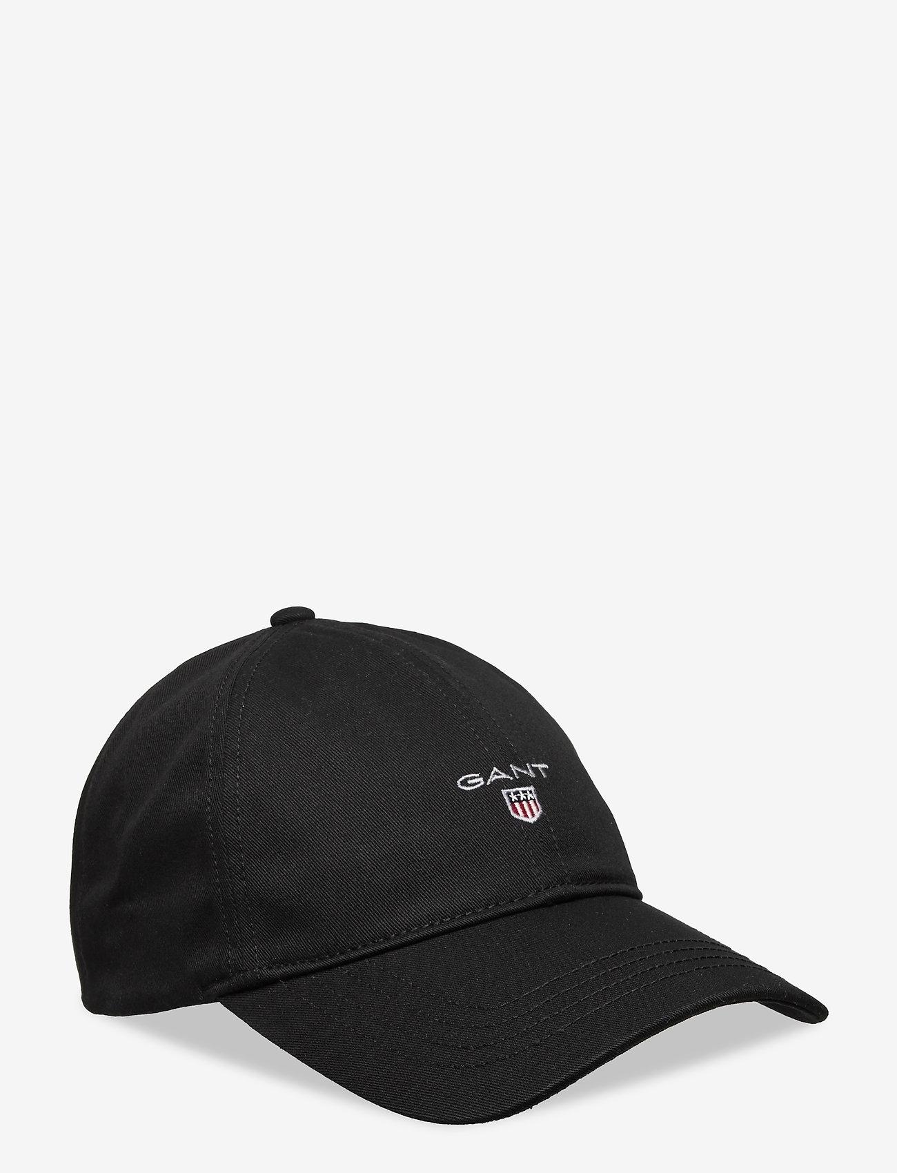 GANT - COTTON TWILL CAP - caps - black - 0