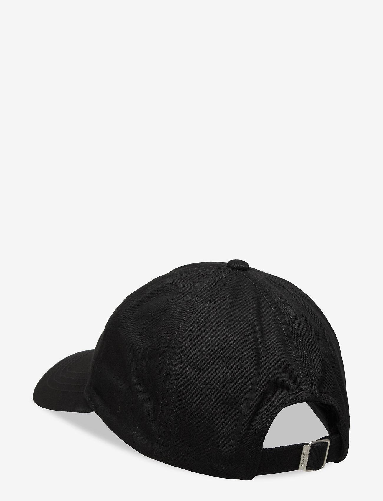 GANT - COTTON TWILL CAP - caps - black - 1