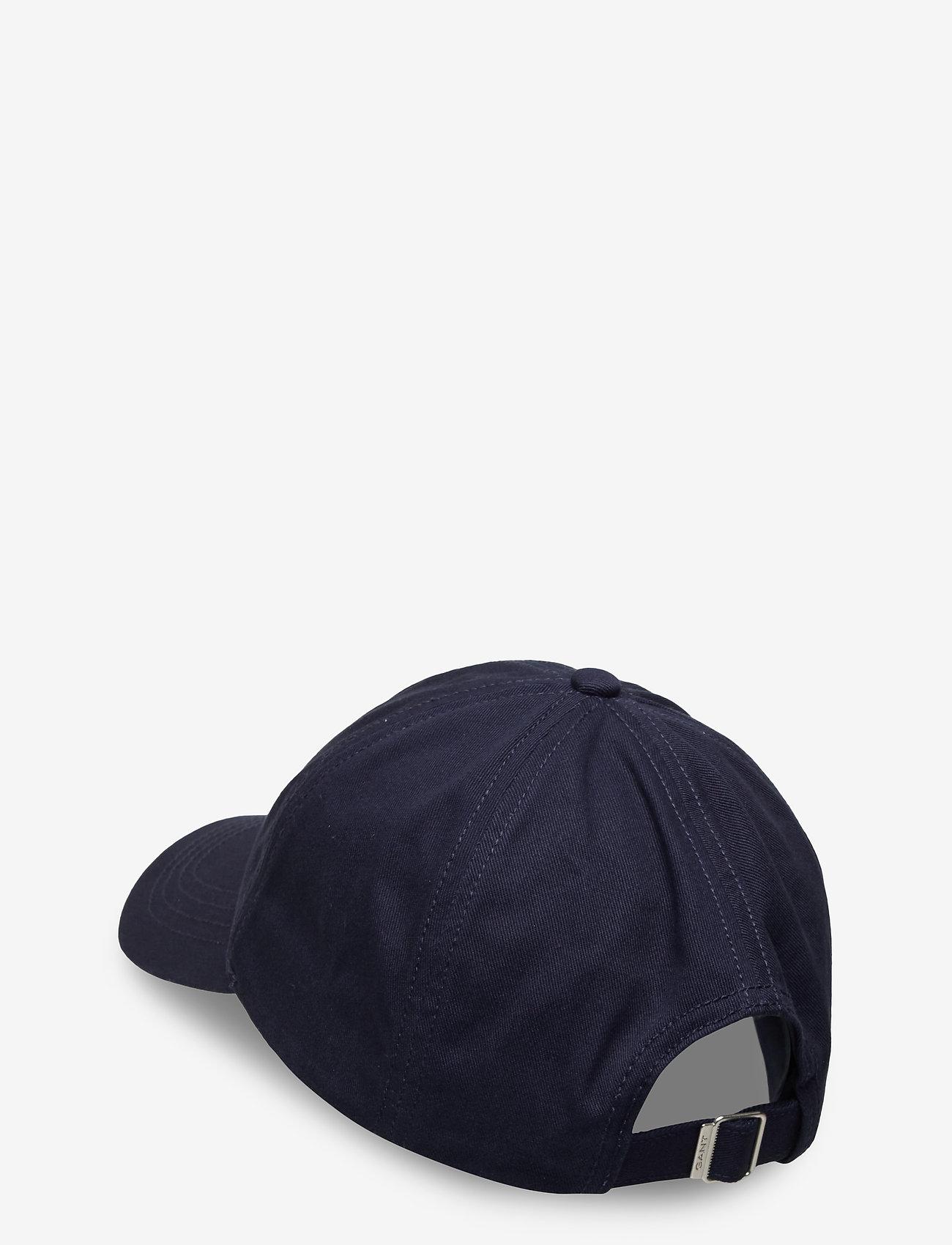 GANT - COTTON TWILL CAP - caps - marine - 1