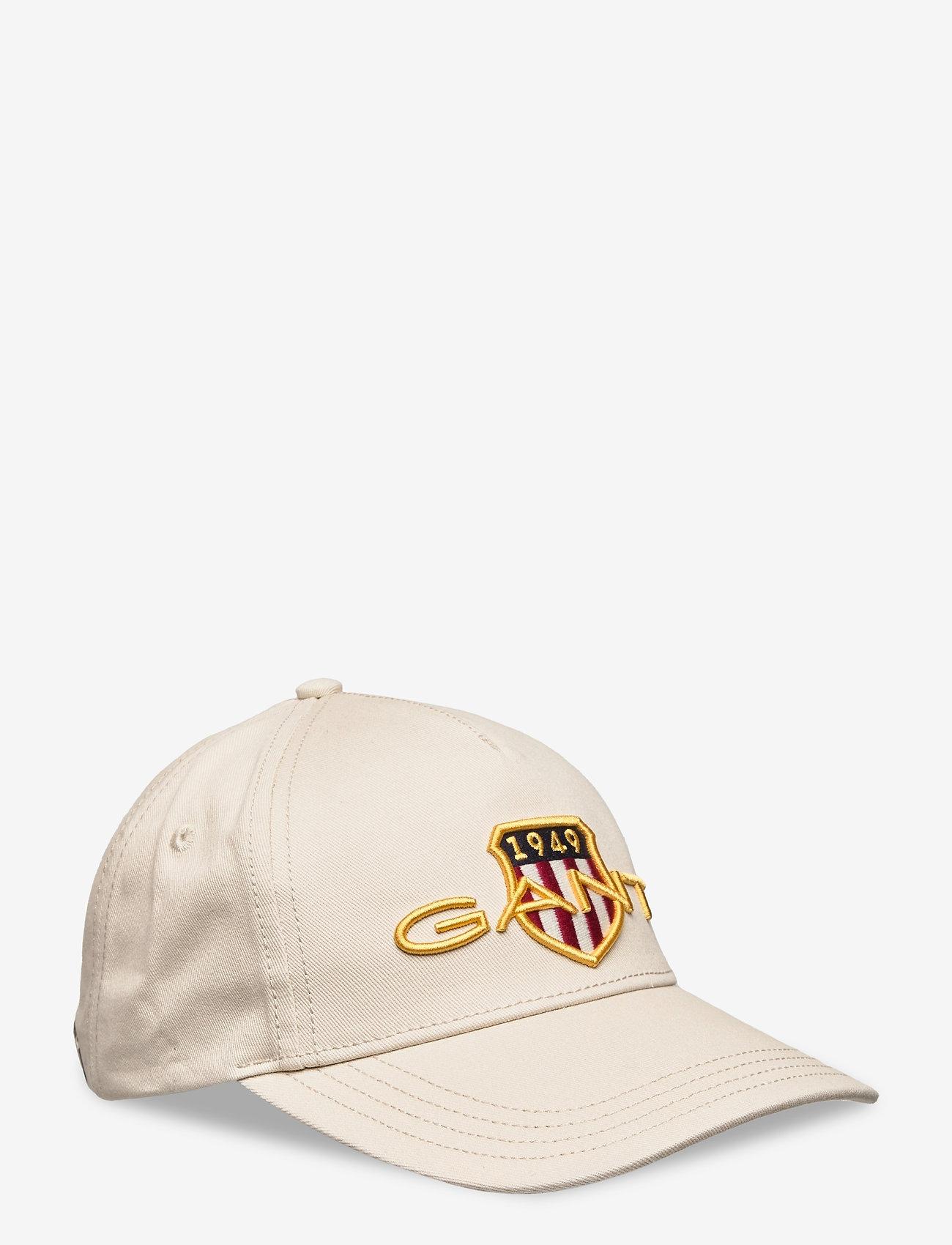 GANT - D1. ARCHIVE SHIELD COTTON CAP - caps - putty - 0