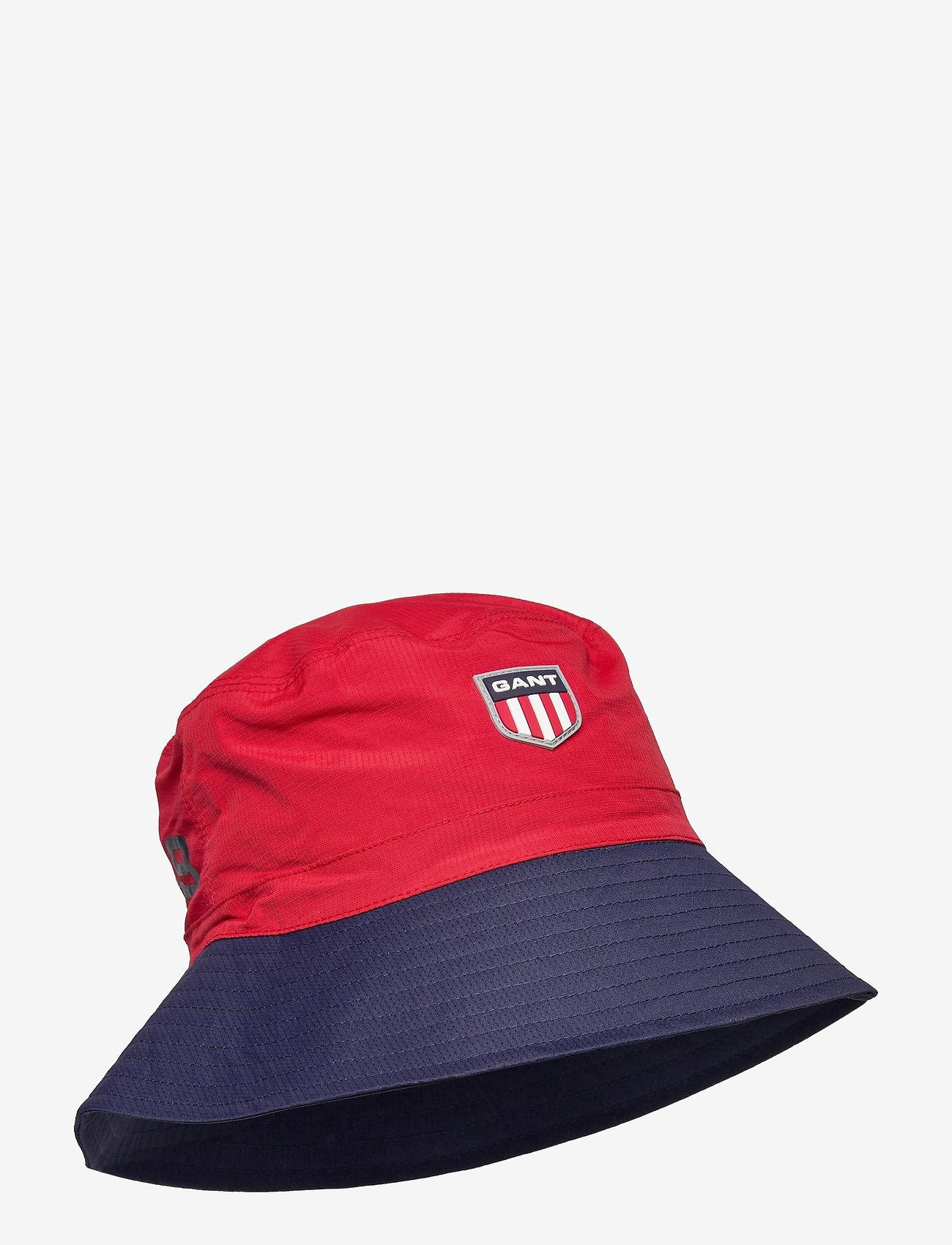 GANT - D2. RETRO SHIELD BUCKET HAT - bucket hats - bright red - 0