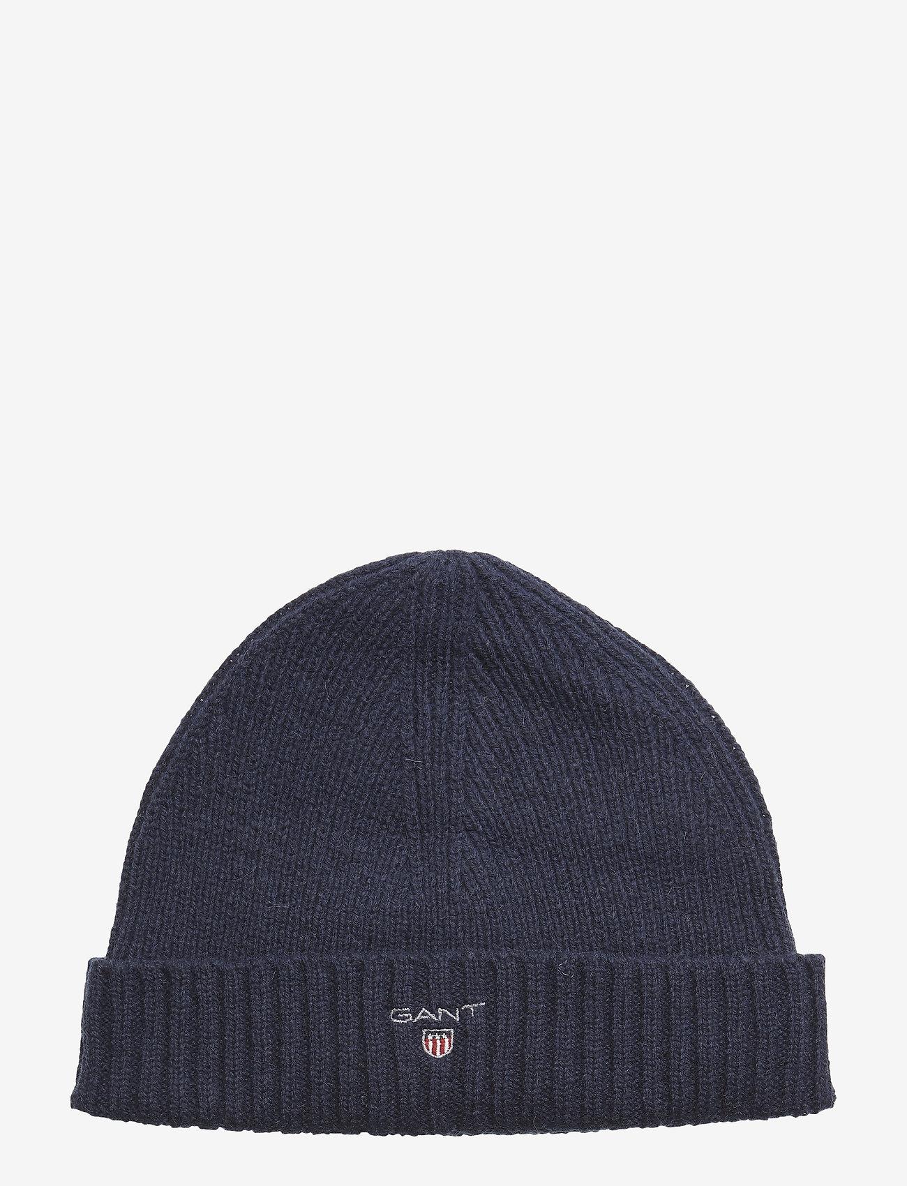GANT - WOOL LINED BEANIE - bonnet - marine - 0