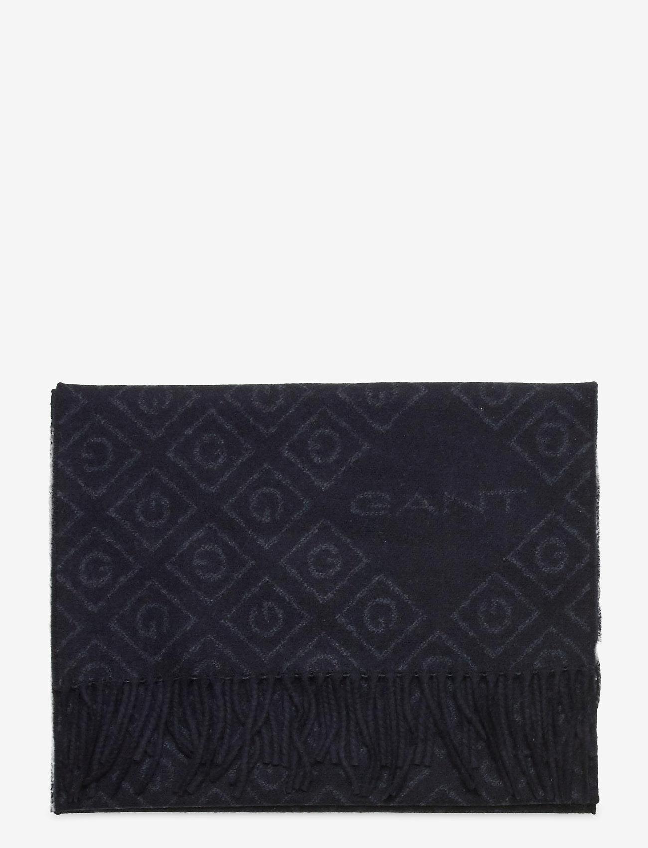 GANT - D1. ICON G WOOL SCARF - scarves - navy - 1