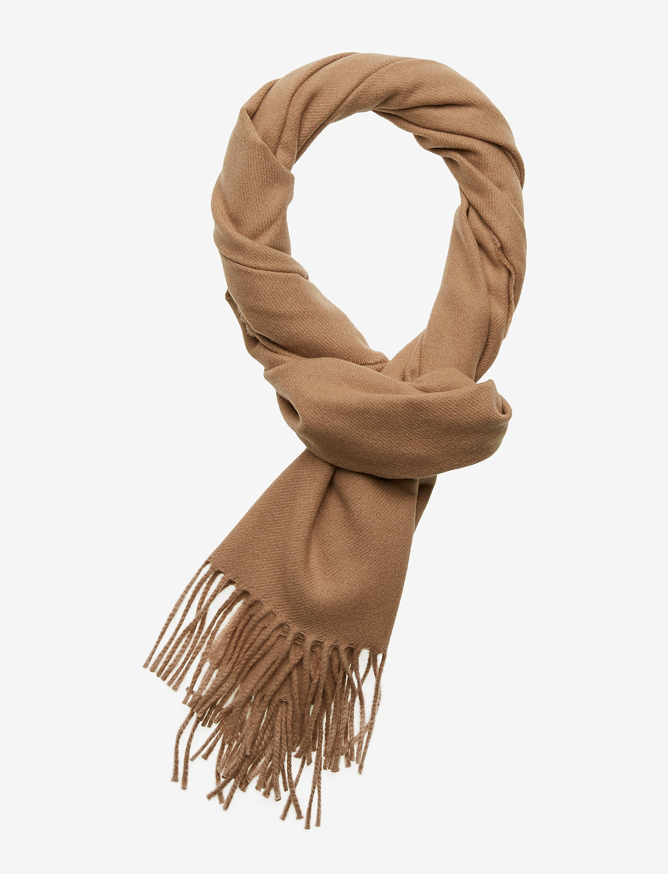 GANT - SOLID WOOL SCARF - scarves - warm khaki - 0