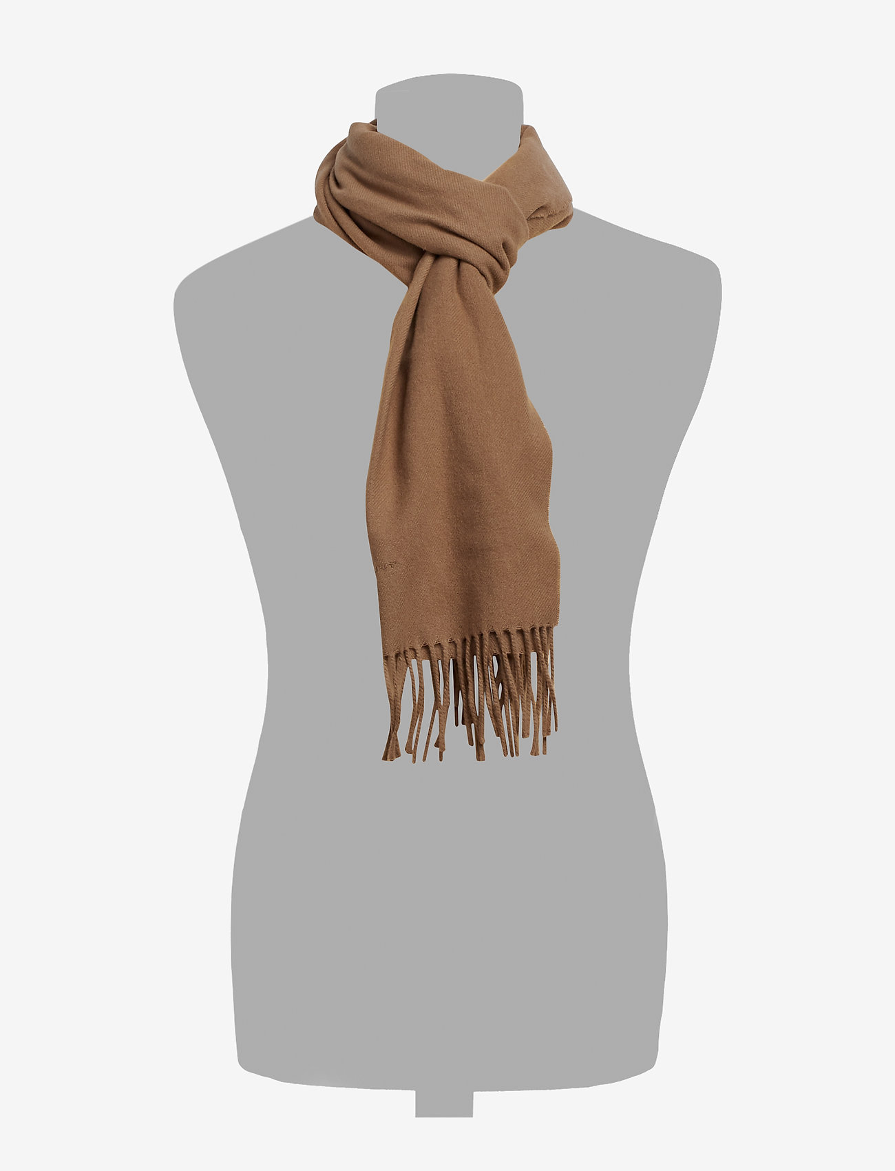 GANT - SOLID WOOL SCARF - scarves - warm khaki - 1