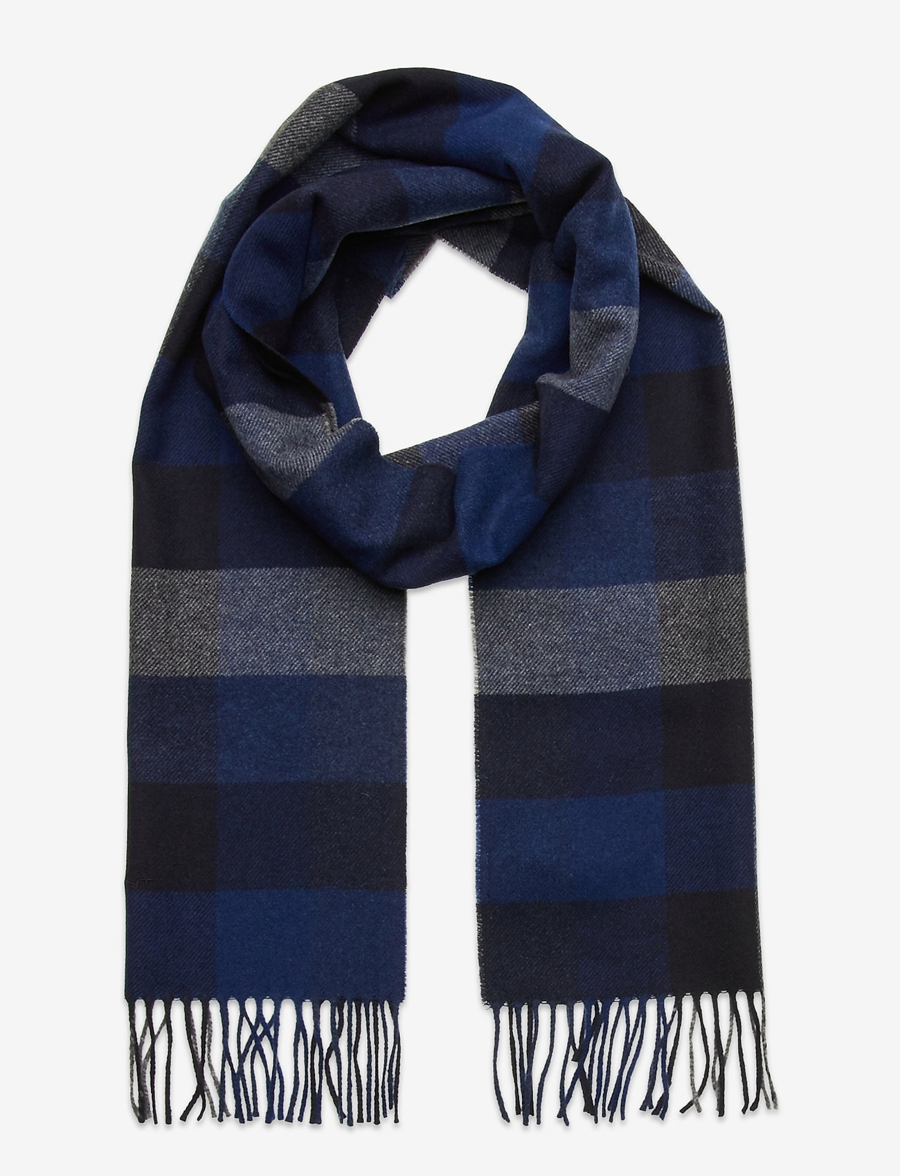 GANT - D2. MULTI CHECK WOOL SCARF - scarves - crisp blue - 0