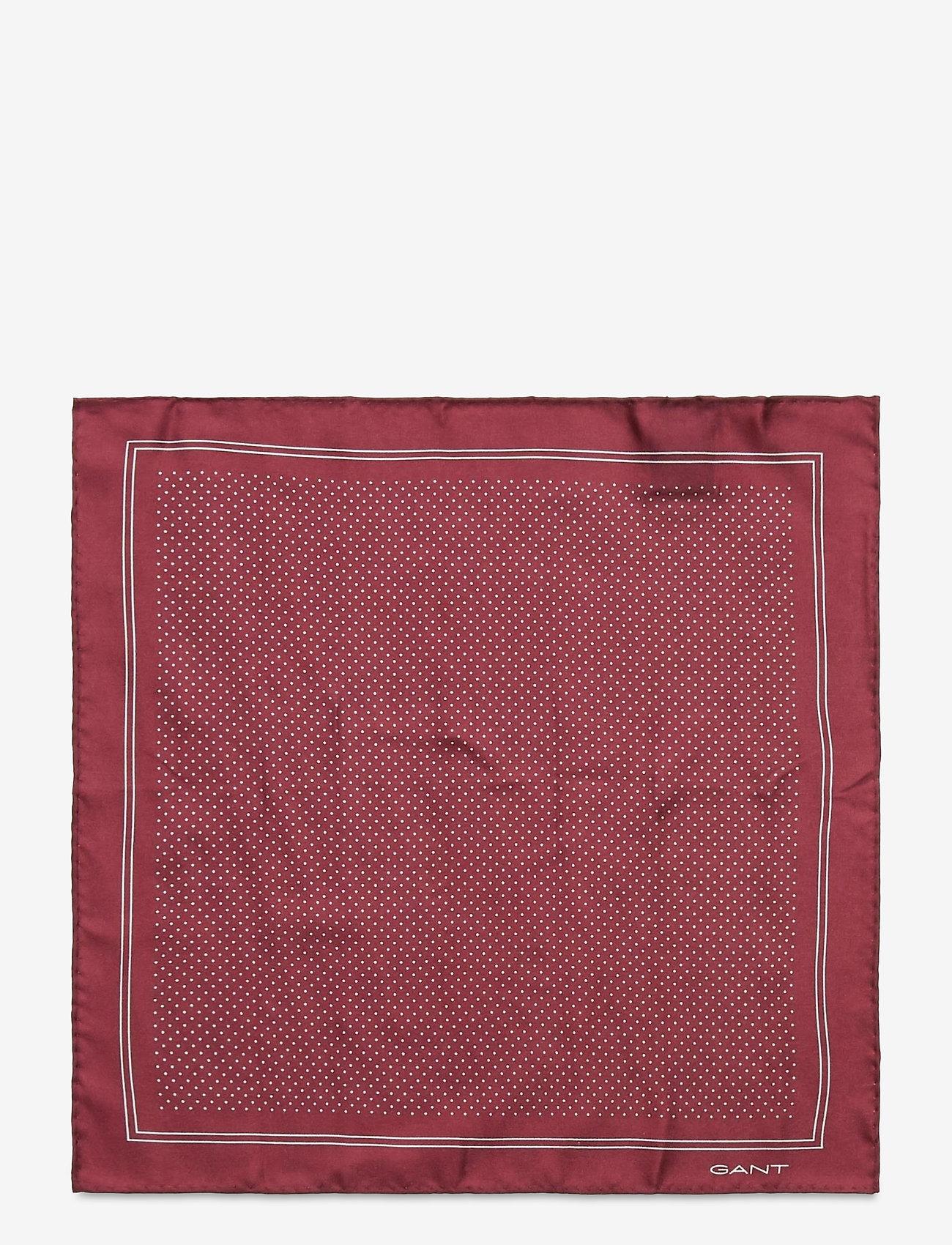 GANT - D1. DOT SILK POCKETSQUARE - pocket squares - port red - 1