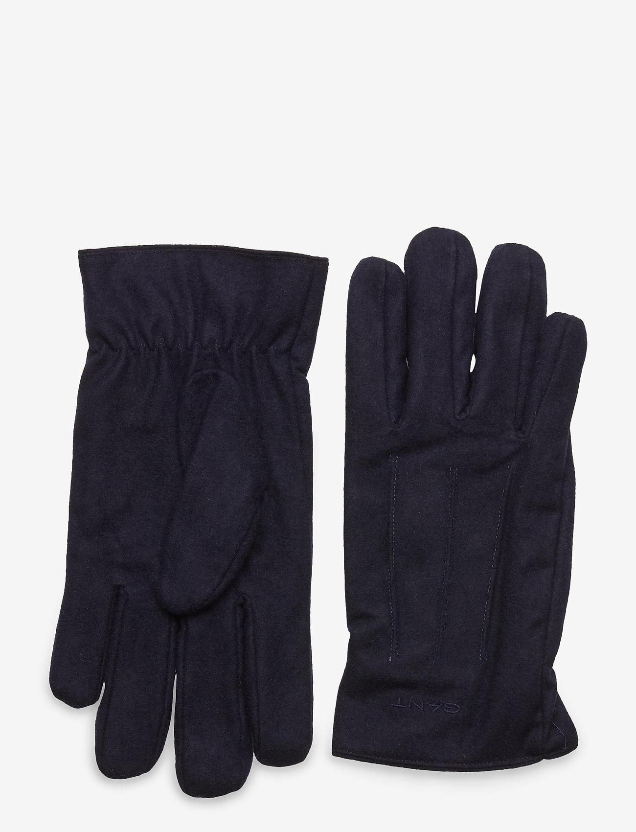 GANT - MELTON GLOVES - gloves - classic blue - 0