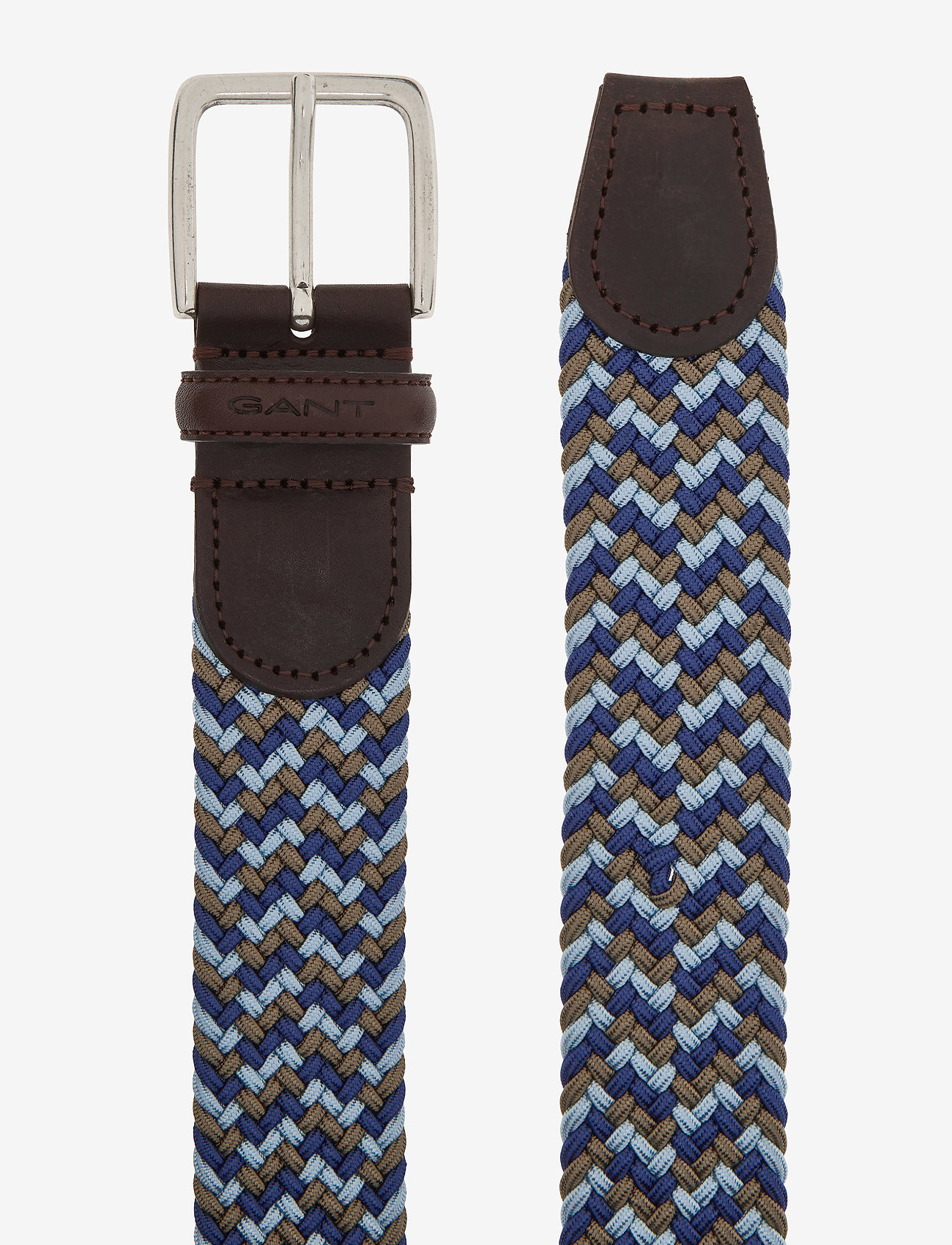 GANT - D1. PATTERNED ELASTIC BRAID BELT - paski plecione - crisp blue - 1