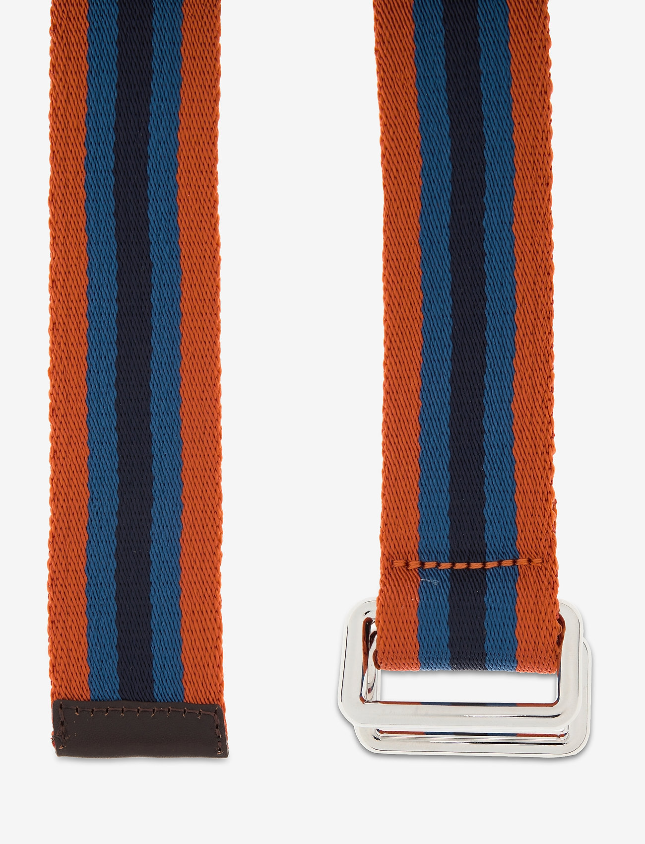 GANT - D1. RUGBY STRIPE WEBBING BELT - belts - dark orange - 1