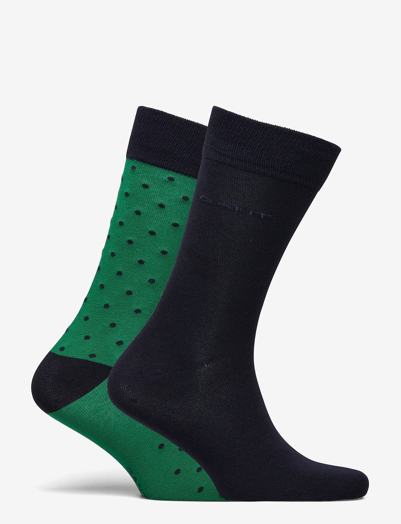 GANT - 2-PACK SOLID AND DOT SOCKS - regular socks - kelly green - 1