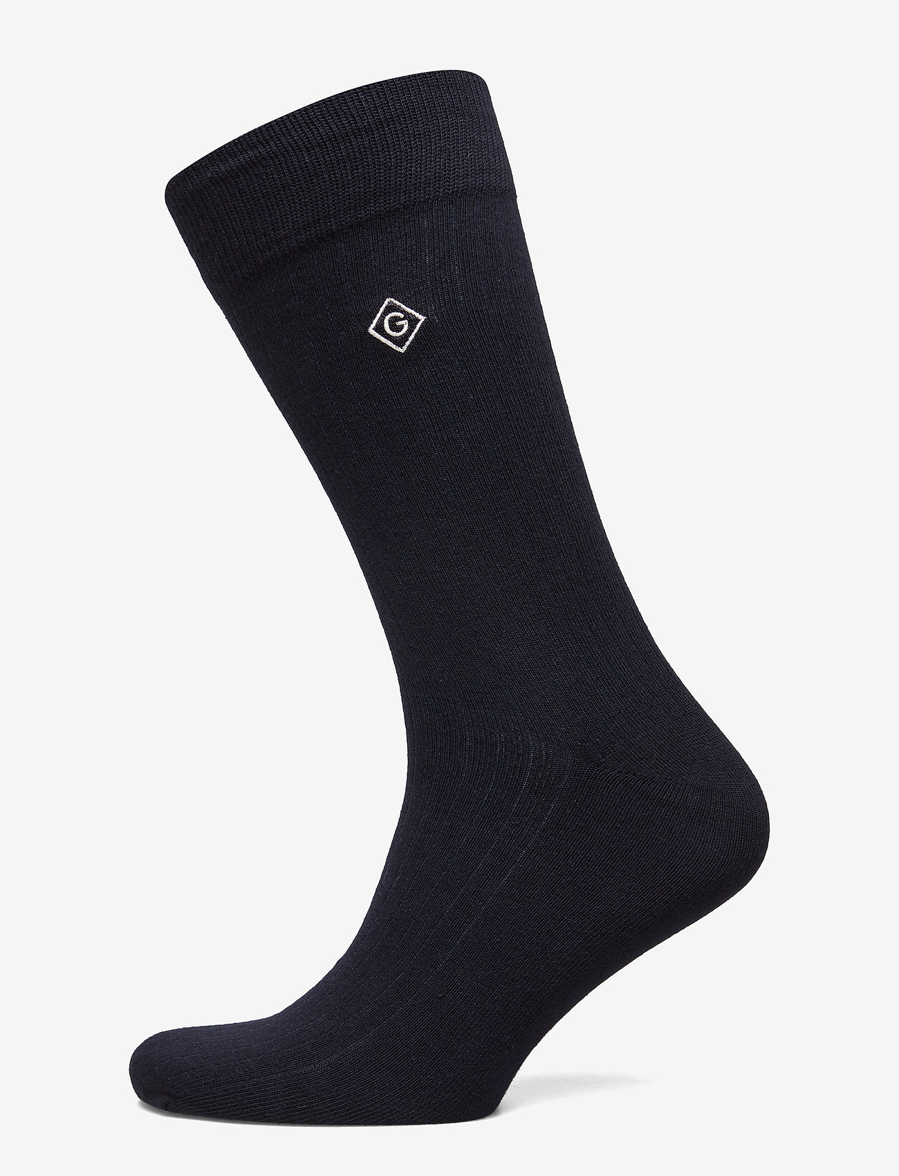 GANT - D1. SOLID RIB SOCK EMB SOCKS - chaussettes régulières - marine - 0