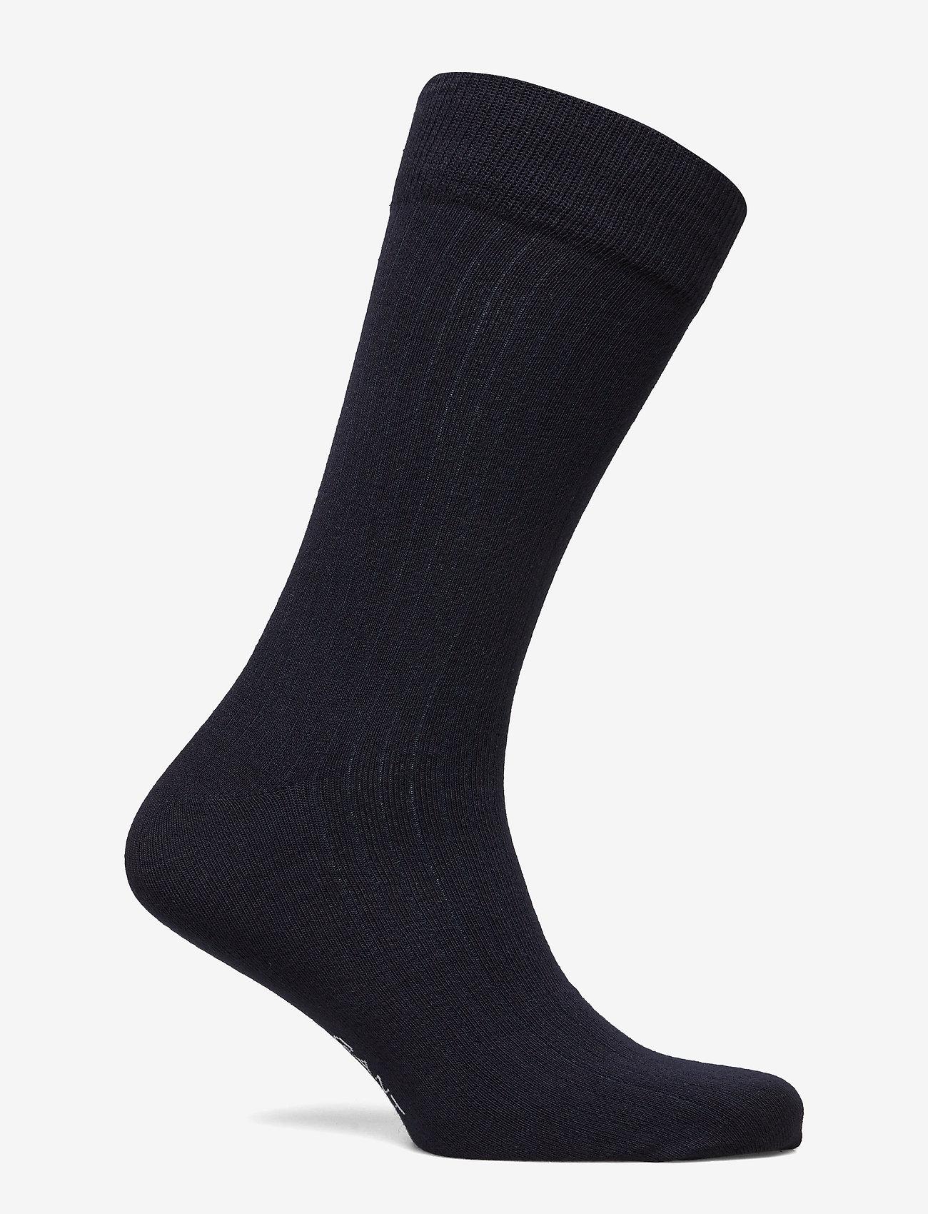 GANT - D1. SOLID RIB SOCK EMB SOCKS - chaussettes régulières - marine - 1