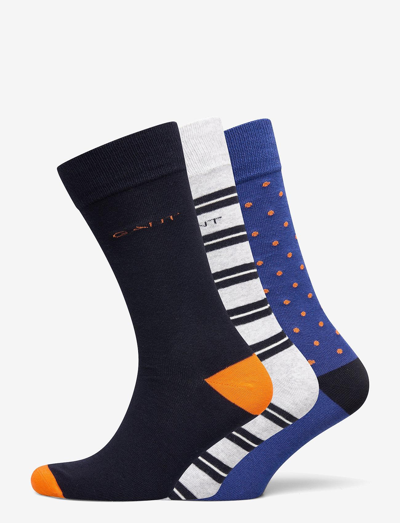 GANT - D2. 3-PACK MIX SOCKS GIFT BOX - regular socks - light grey melange - 0