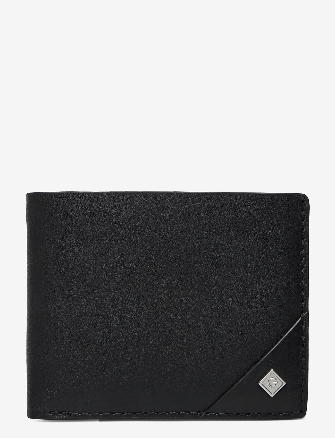 GANT - D1. LEATHER WALLET - wallets - black - 0