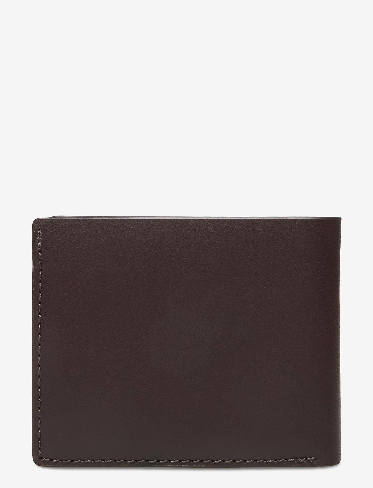 GANT - D1. LEATHER WALLET - wallets - black coffee - 1