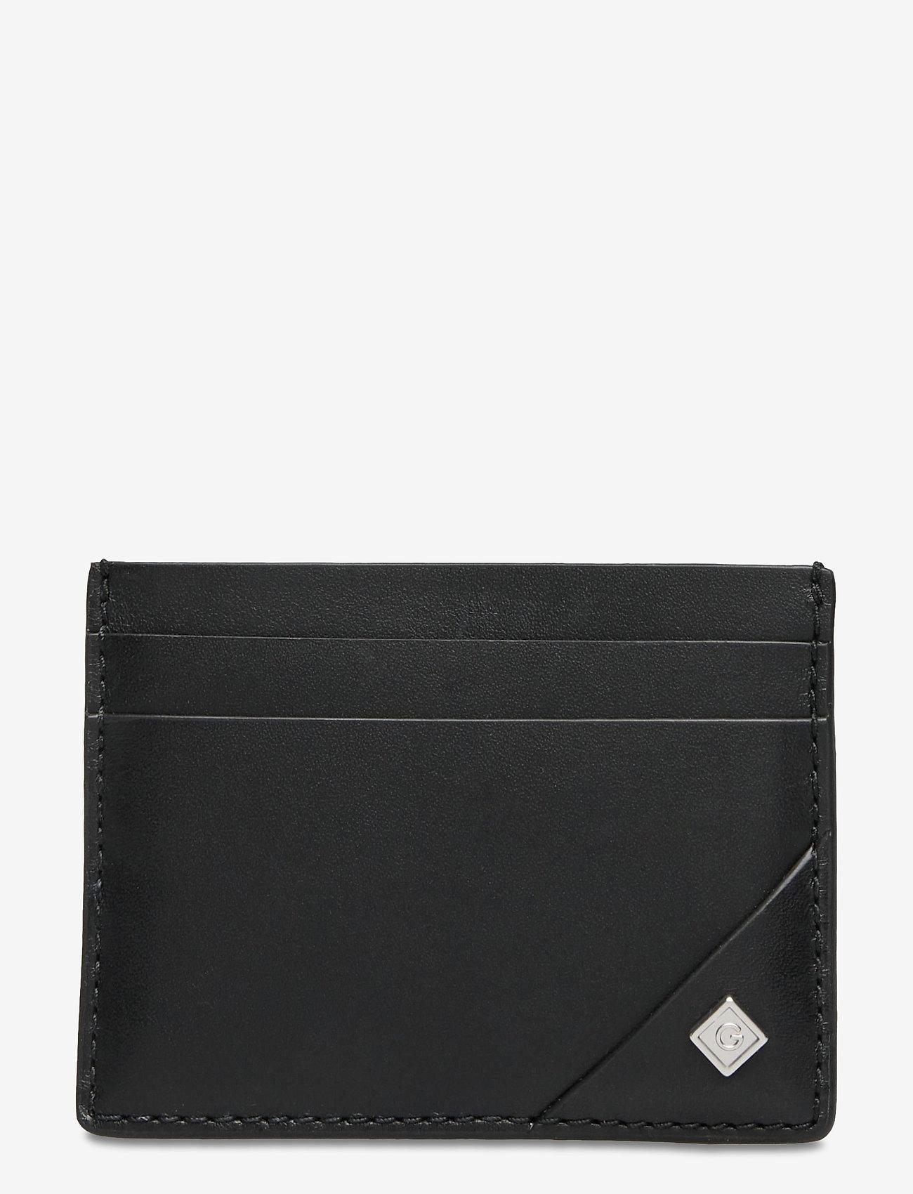 GANT - D1. LEATHER CARDHOLDER - cardholder - black - 0