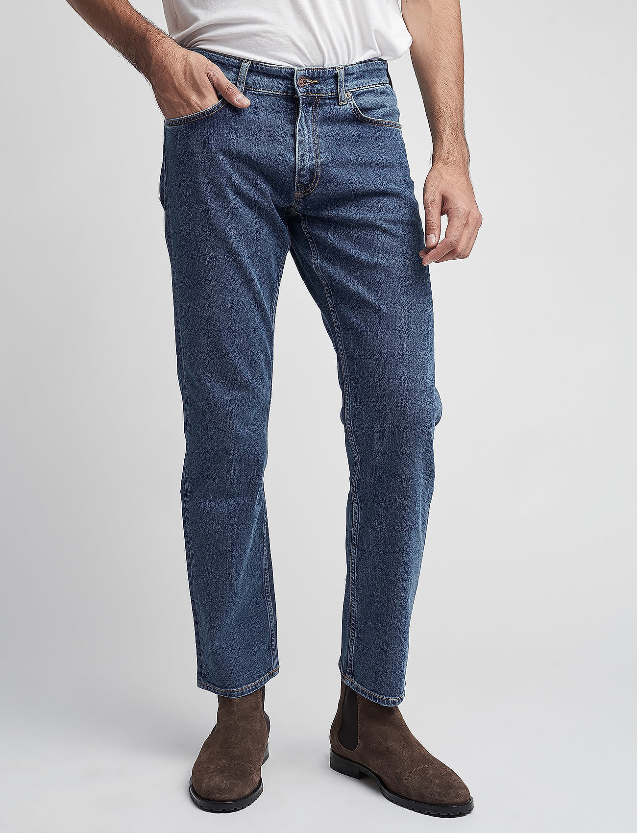 GANT - D1. REGULAR 11 OZ JEANS - regular jeans - mid blue - 0