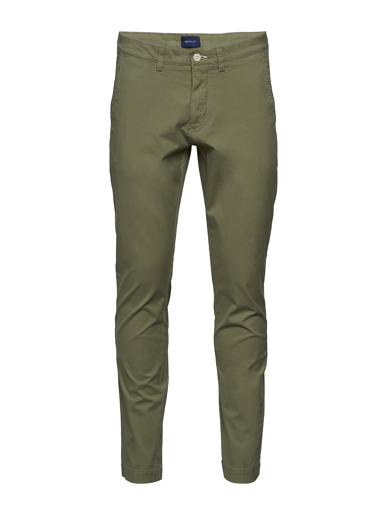 Gant D2. SLIM SUNFADED CHINO - OIL GREEN
