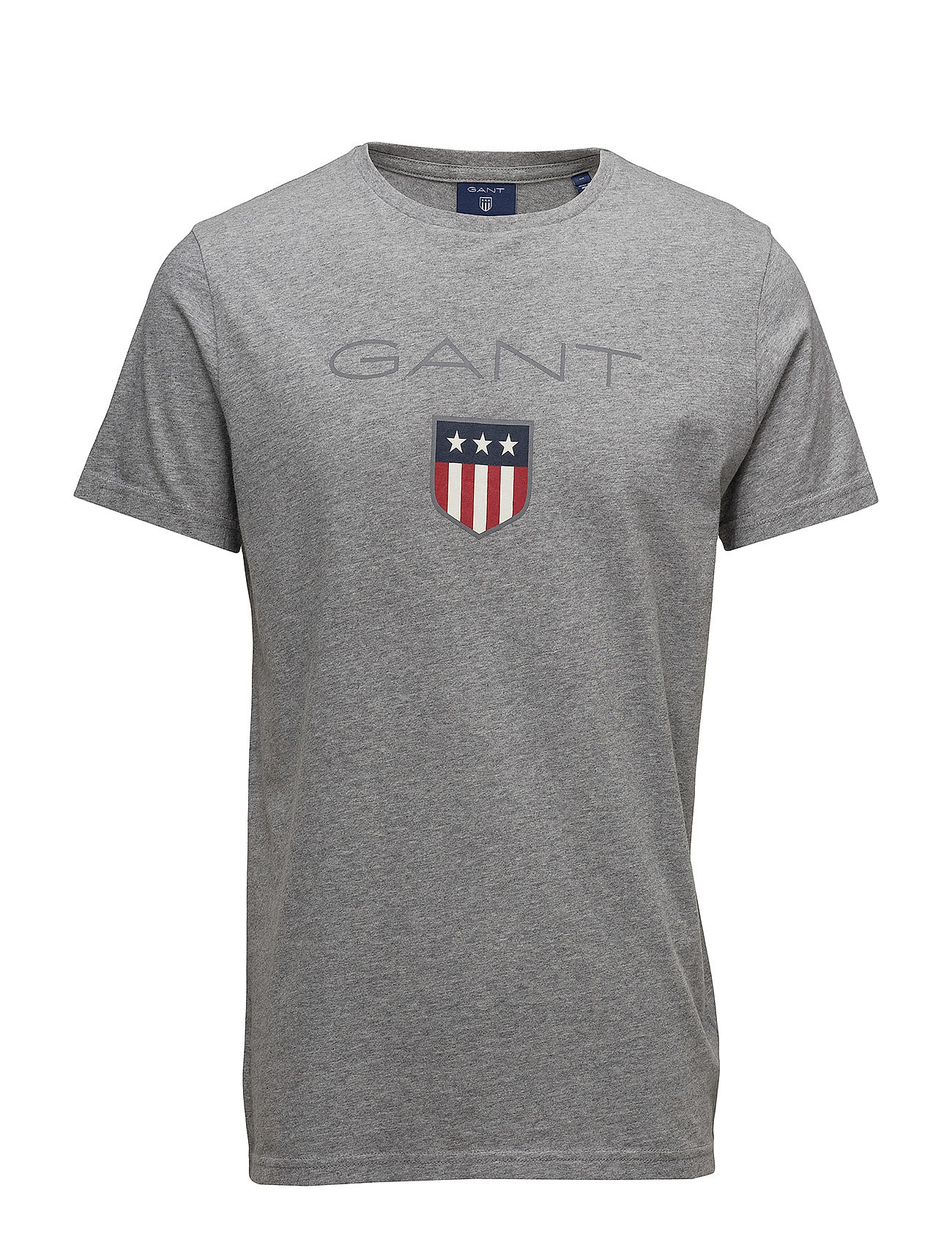 Gant SHIELD SS T-SHIRT - GREY MELANGE