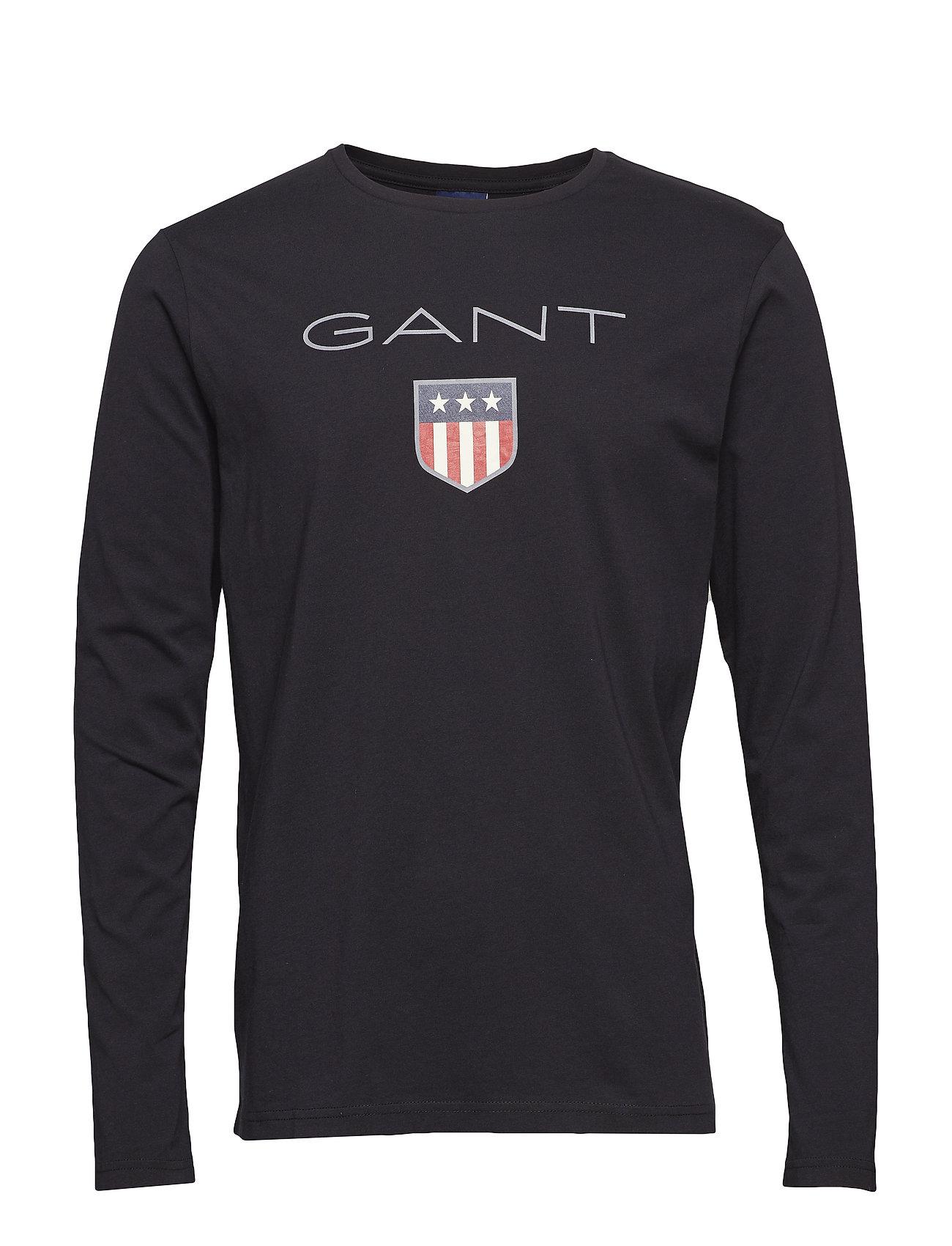GANT SHIELD LS T-SHIRT - BLACK