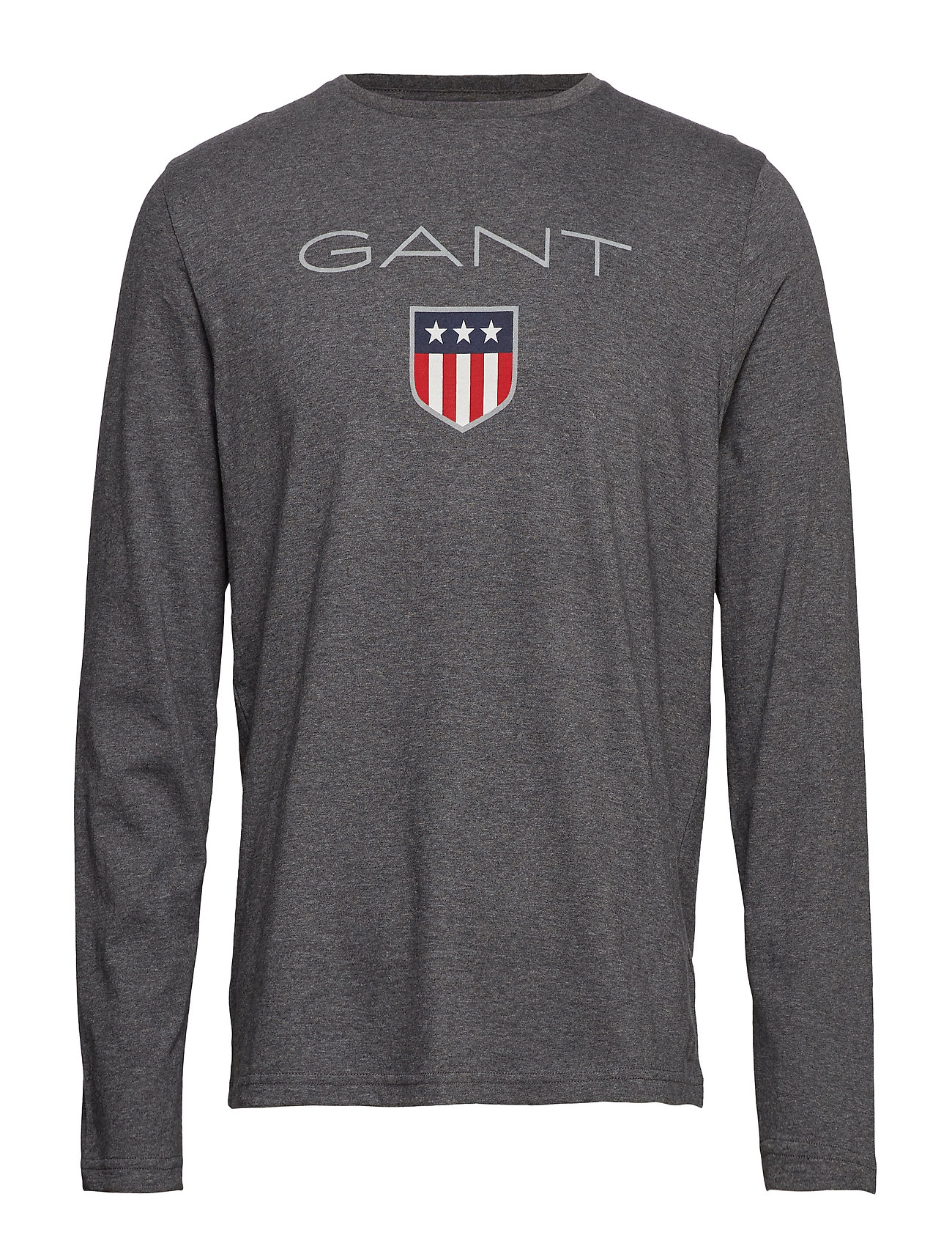 Gant SHIELD LS T-SHIRT - CHARCOAL MELANGE