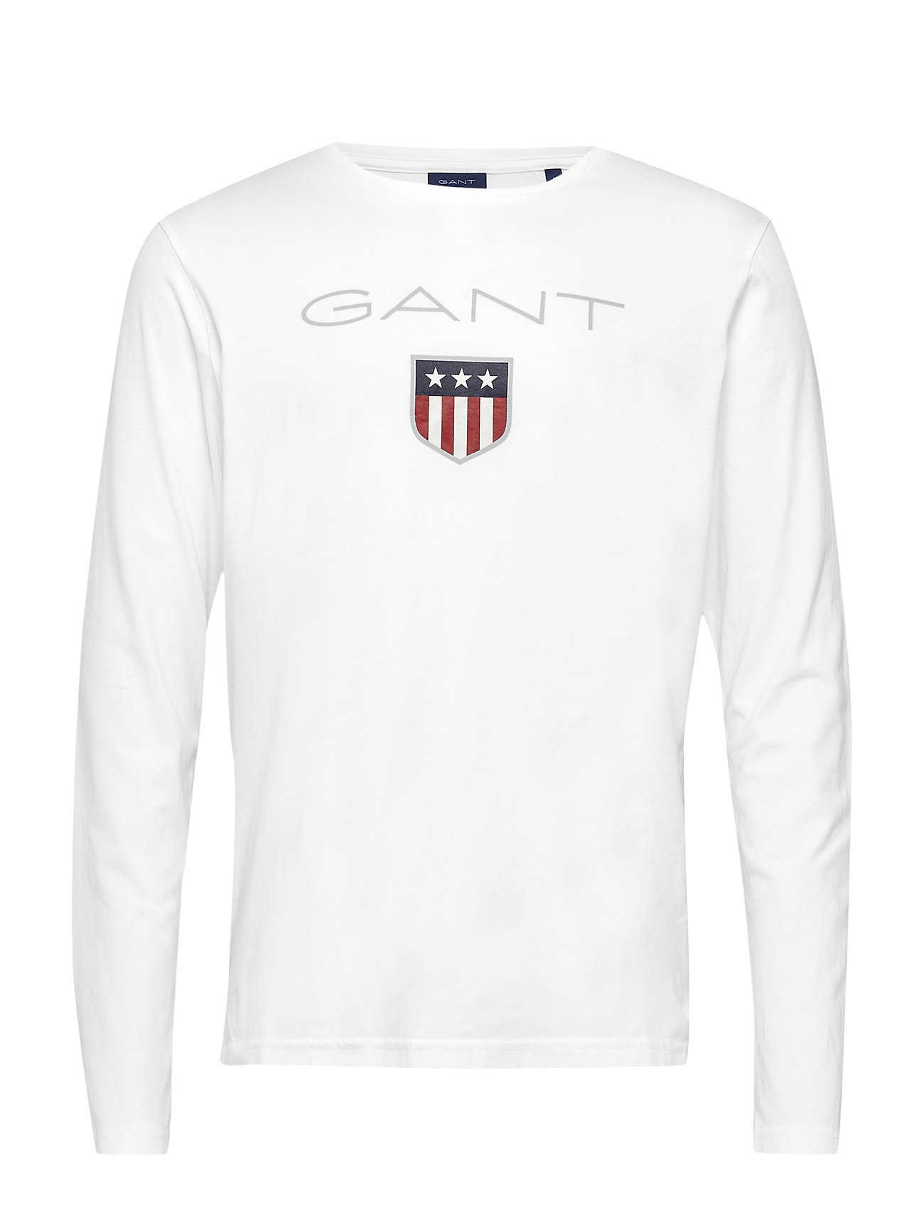 GANT SHIELD LS T-SHIRT - WHITE