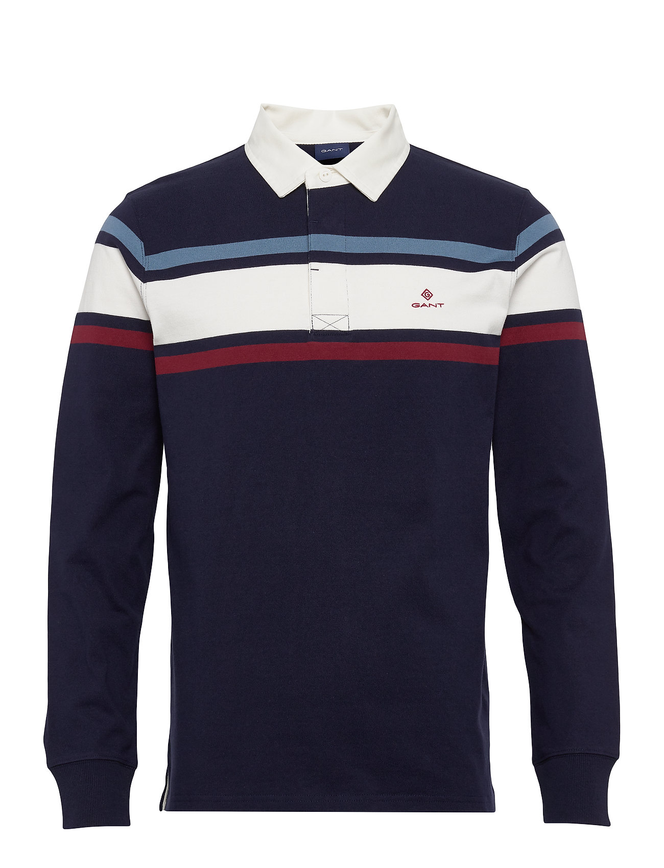 Gant D1. STRIPED CHEST HEAVY RUGGER - EVENING BLUE