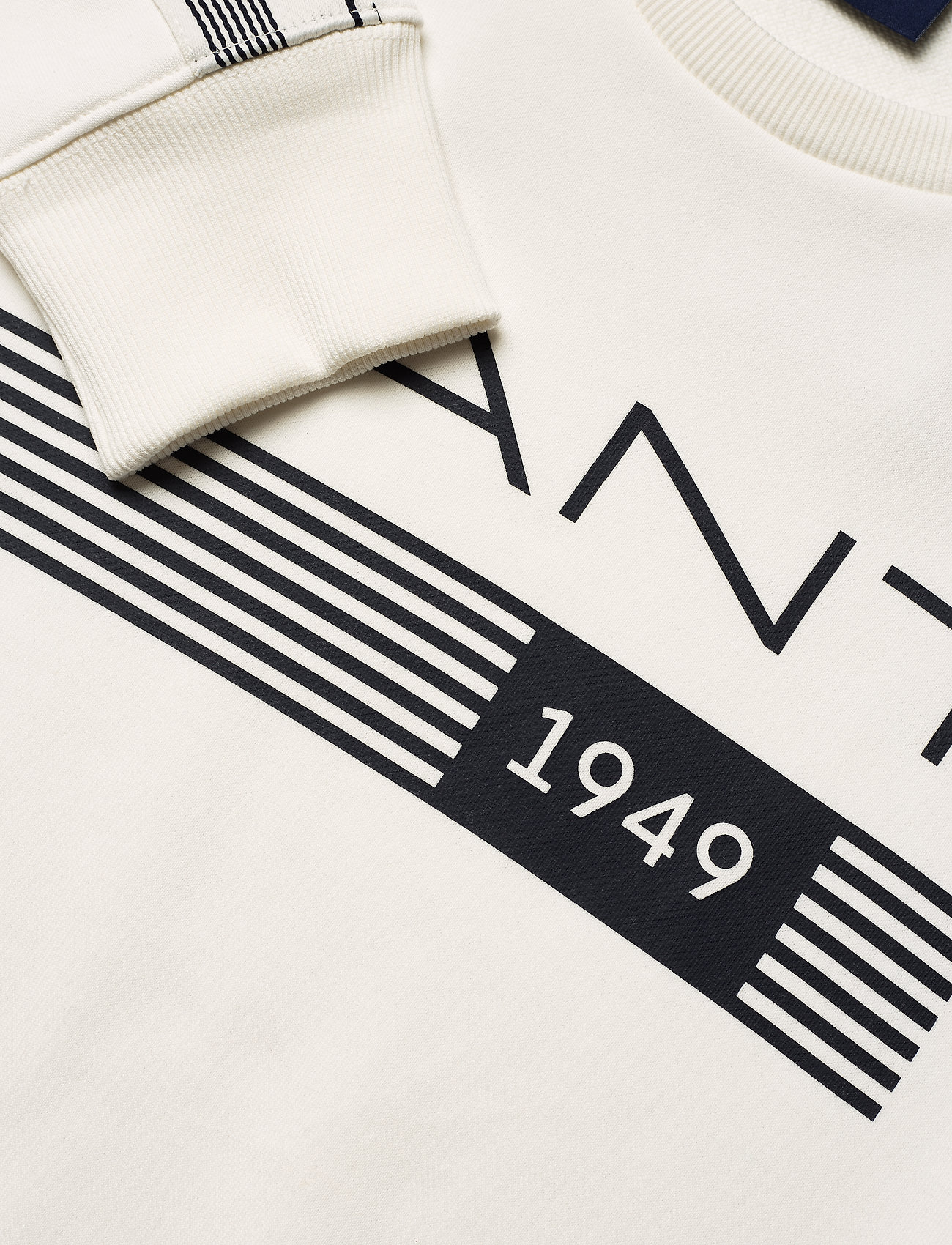 GANT D1. 13 STRIPES C-NECK SWEAT - Sweatshirts EGGSHELL - Menn Klær