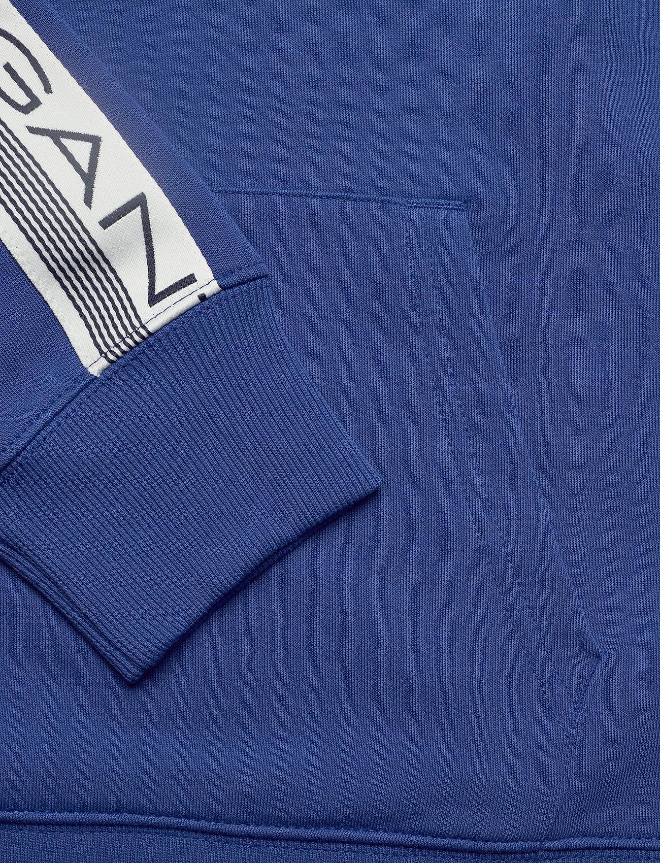 GANT D1. 13 STRIPES SWEAT HOODIE - Sweatshirts CRISP BLUE - Menn Klær