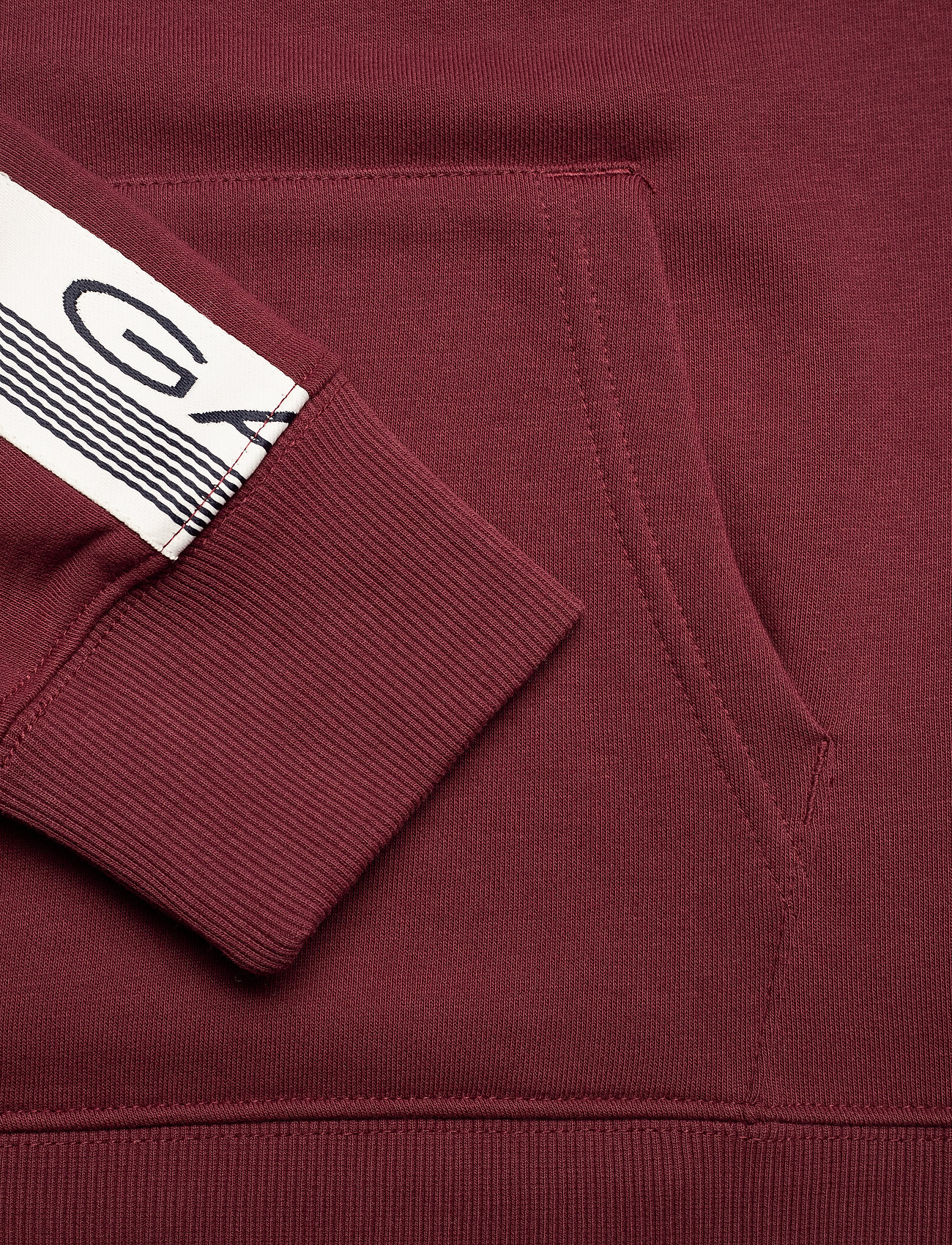GANT D1. 13 STRIPES SWEAT HOODIE - Sweatshirts PORT RED - Menn Klær