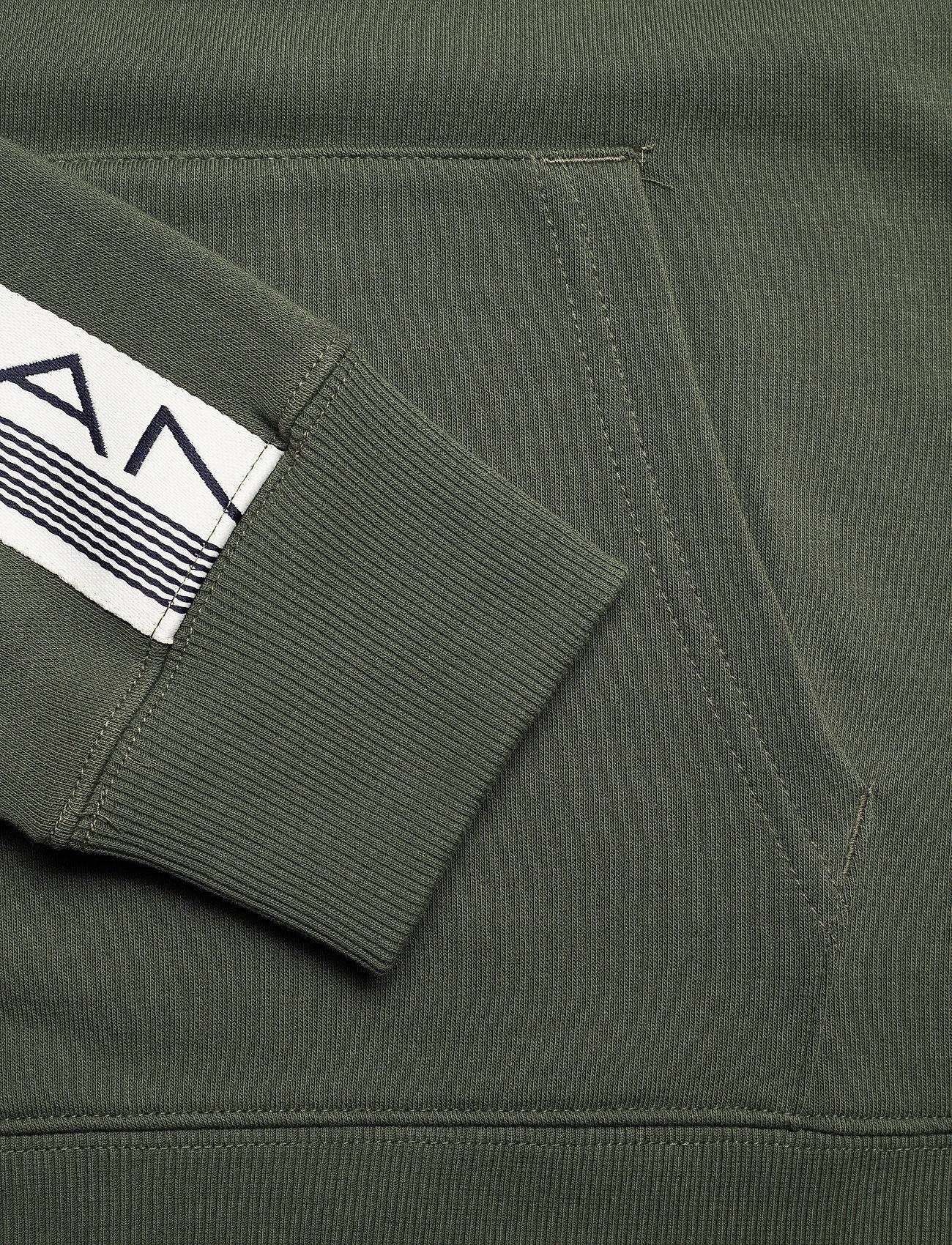 GANT D1. 13 STRIPES SWEAT HOODIE - Sweatshirts THYME GREEN - Menn Klær