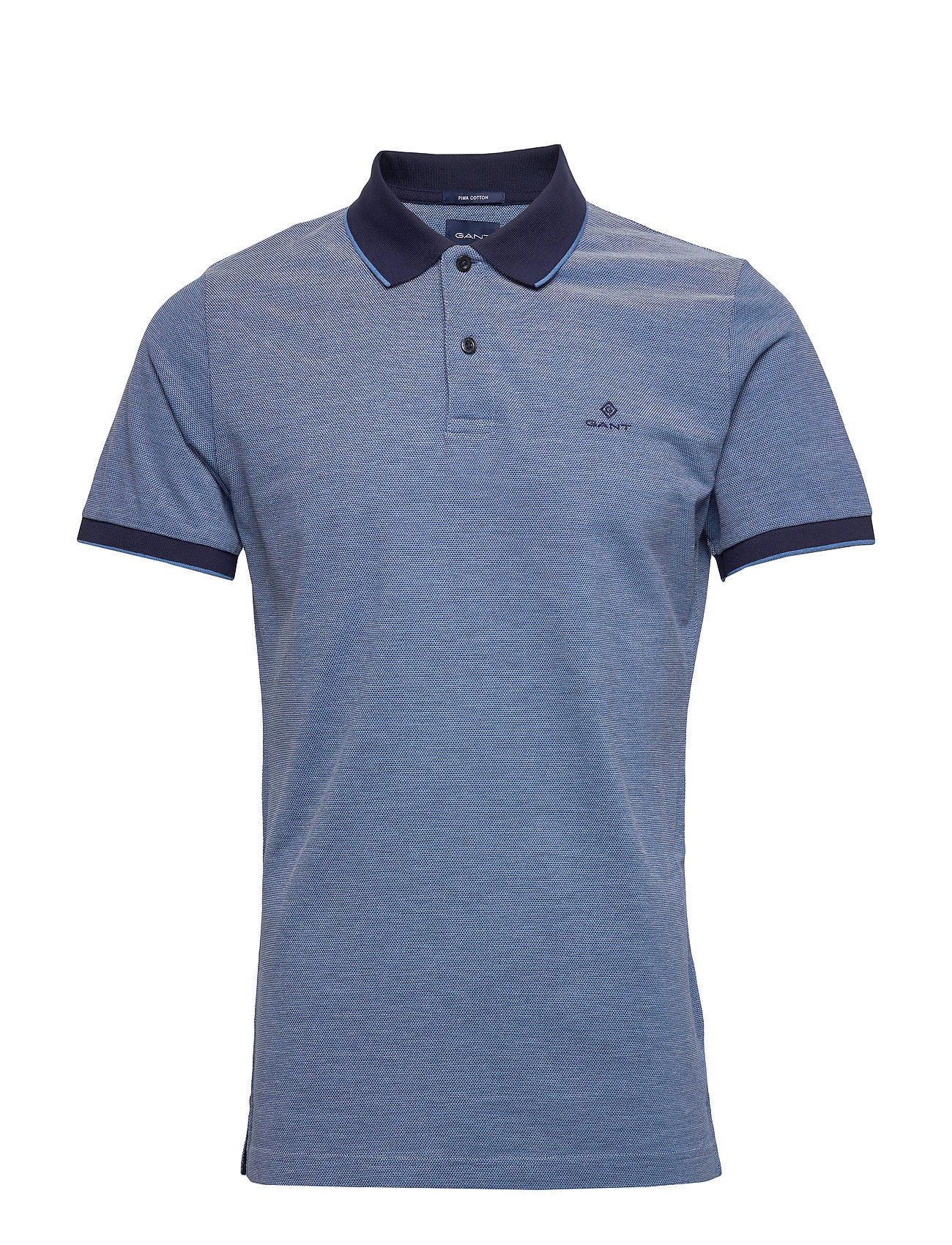 Gant D2. 4-COL OXFORD PIQUE SS RUGGER - PACIFIC BLUE