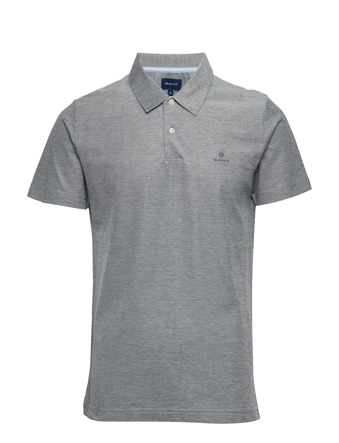 Gant D1. OXFORD PIQUE SS RUGGER - EVENING BLUE