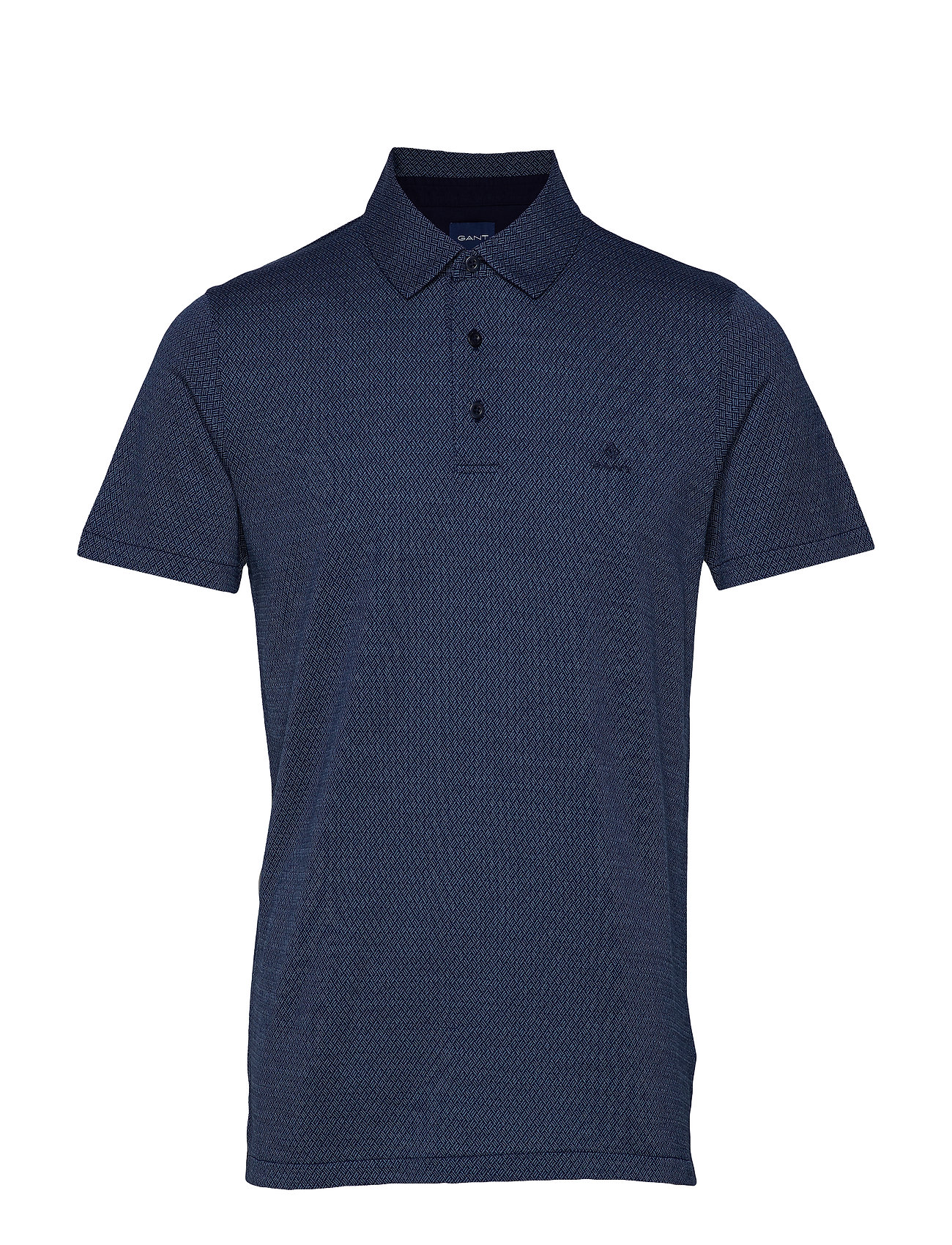 GANT D1. JACQUARD SS RUGGER - EVENING BLUE