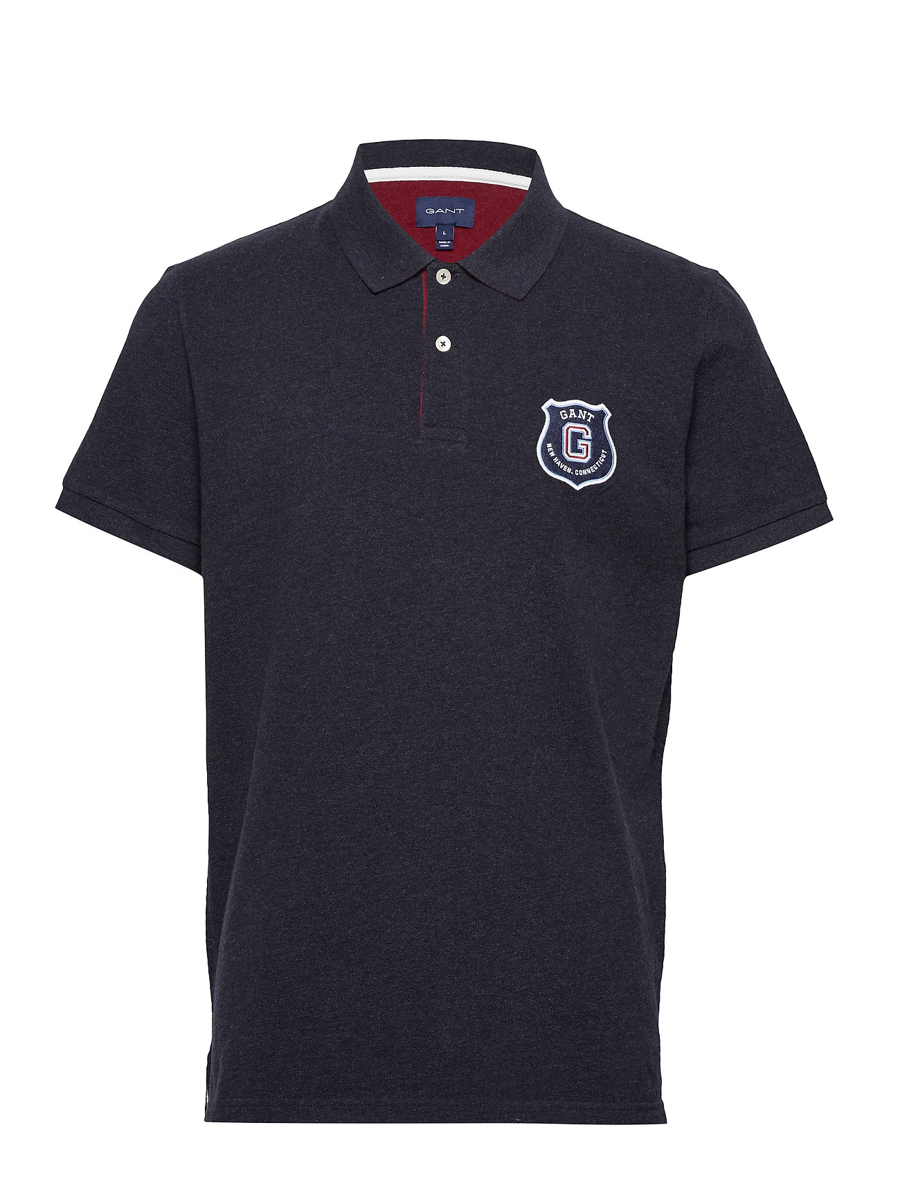 Gant D1. GRAPHIC SS RUGGER - DARK NAVY MELANGE