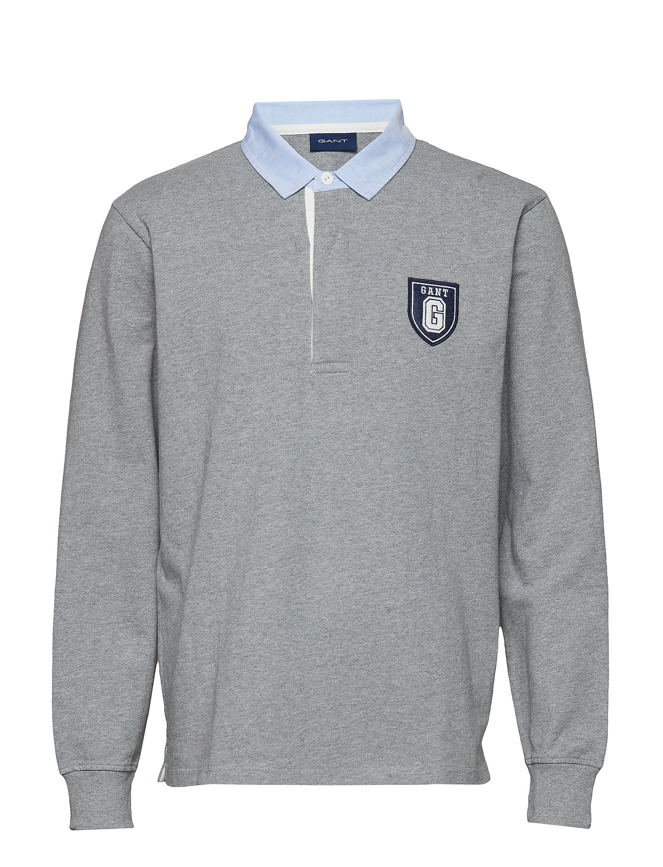 Gant O1. GRAPHIC HEAVY RUGGER - GREY MELANGE
