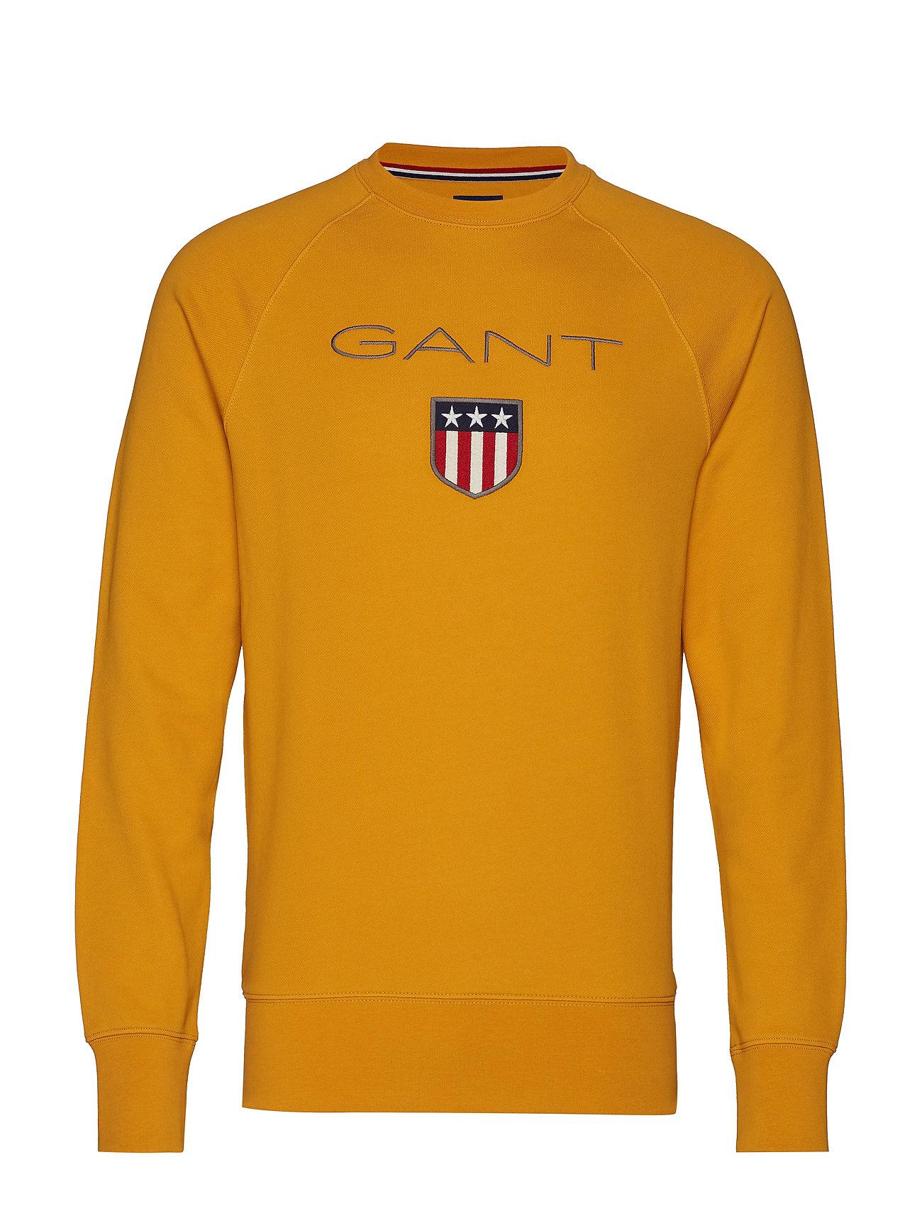 GANT GANT SHIELD C-NECK SWEAT - IVY GOLD