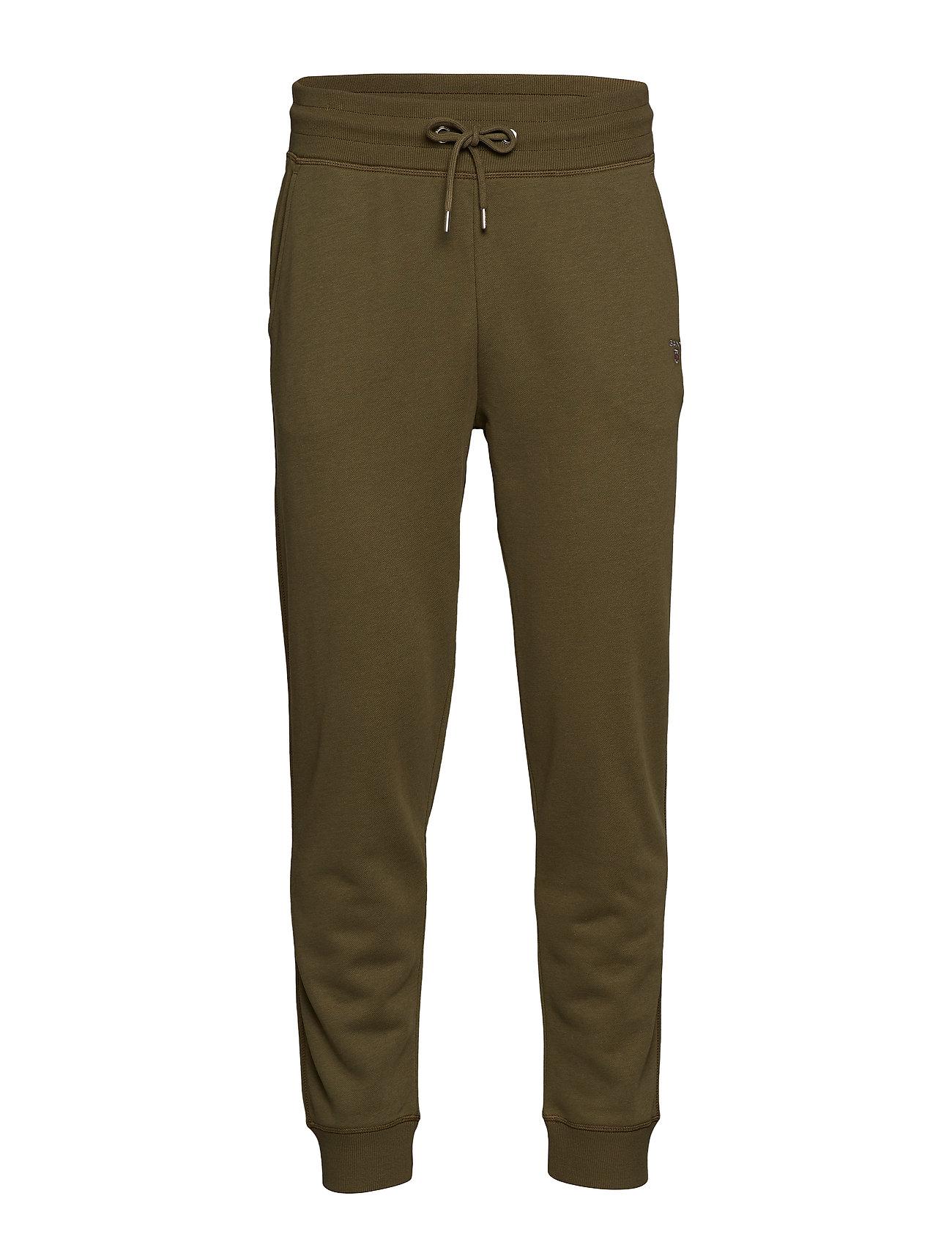 Gant THE ORIGINAL SWEAT PANTS - FIELD GREEN