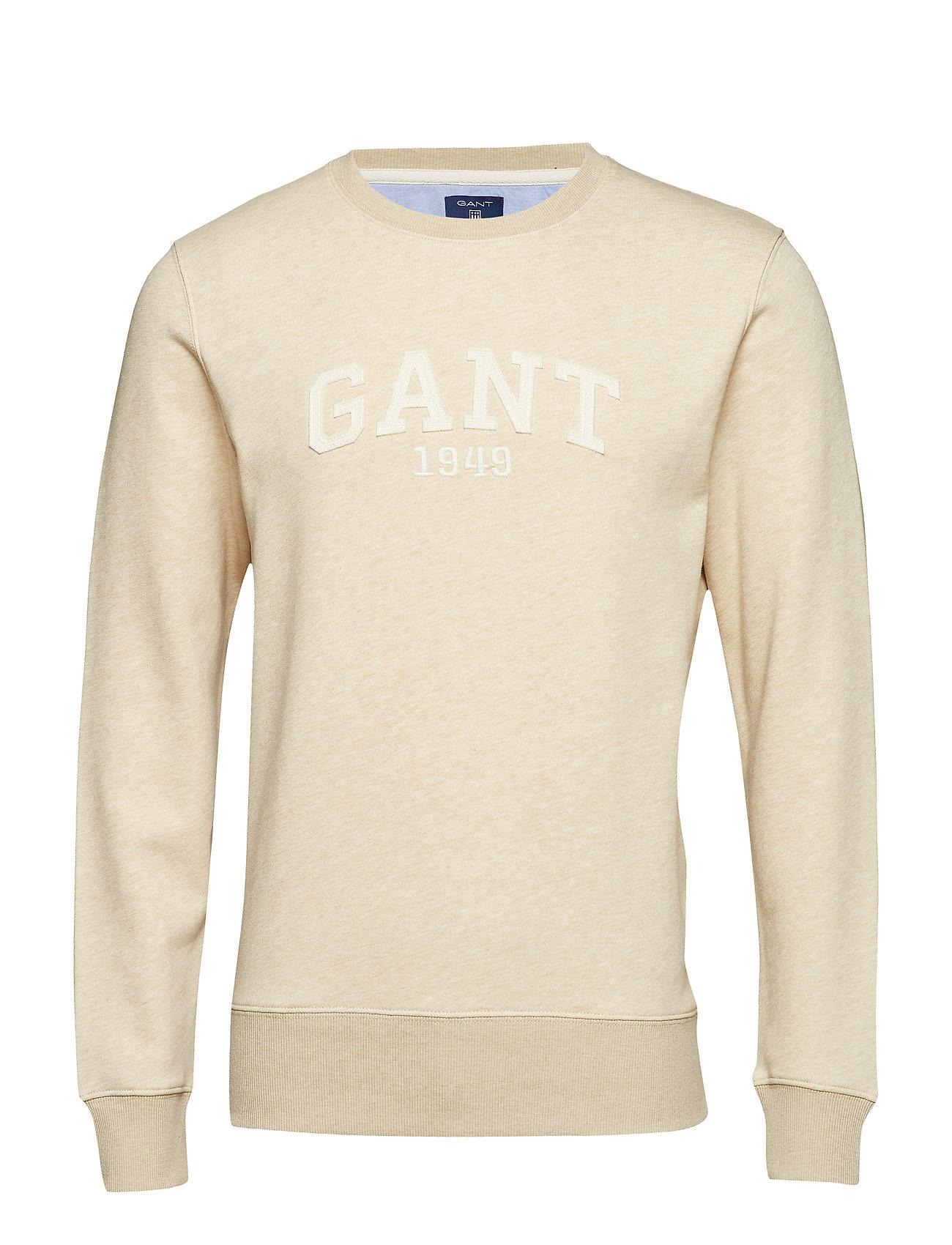 Gant O2. GANT C-NECK SWEAT - LT SAND MEL