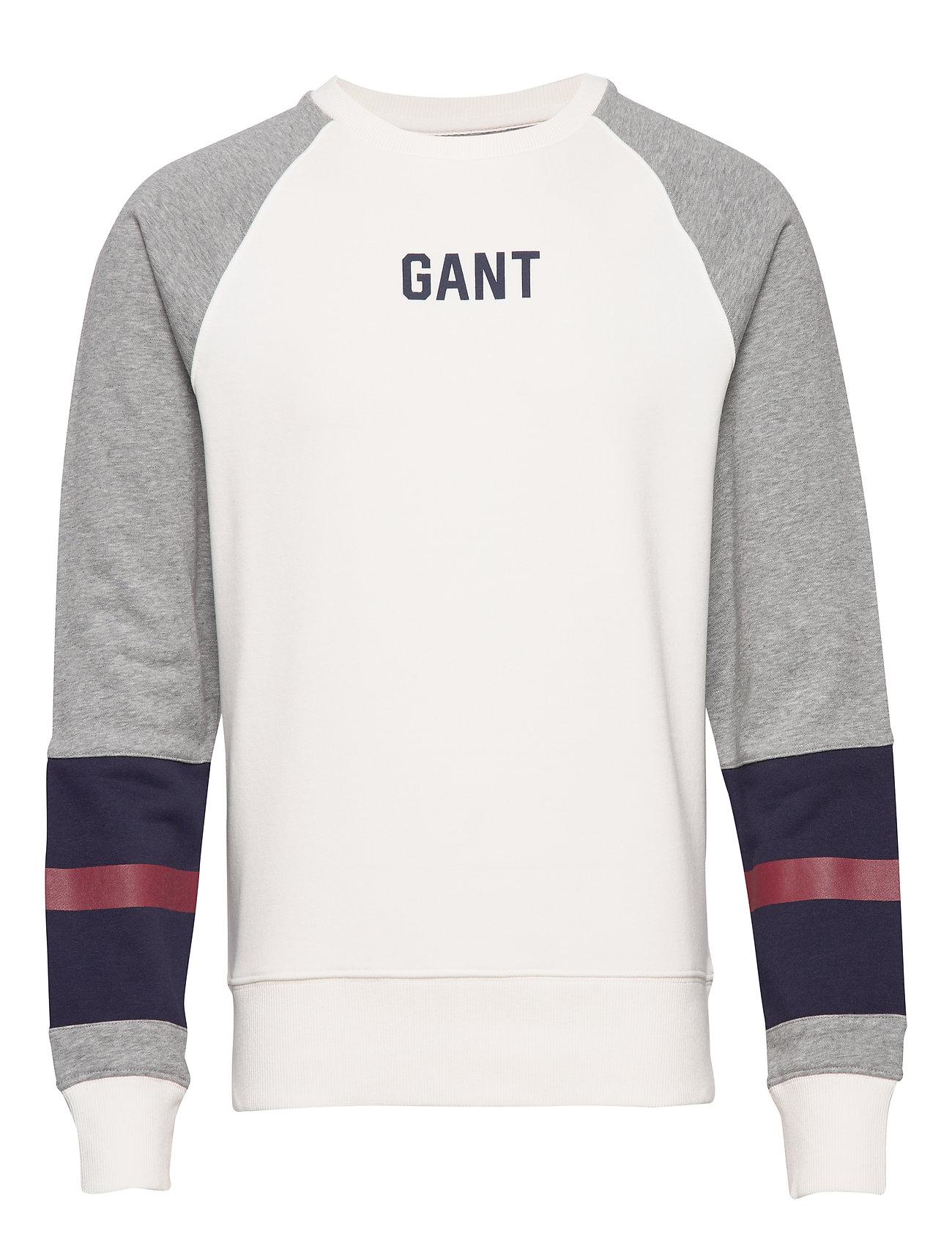Gant D1. LOGO C-NECK SWEAT - EGGSHELL