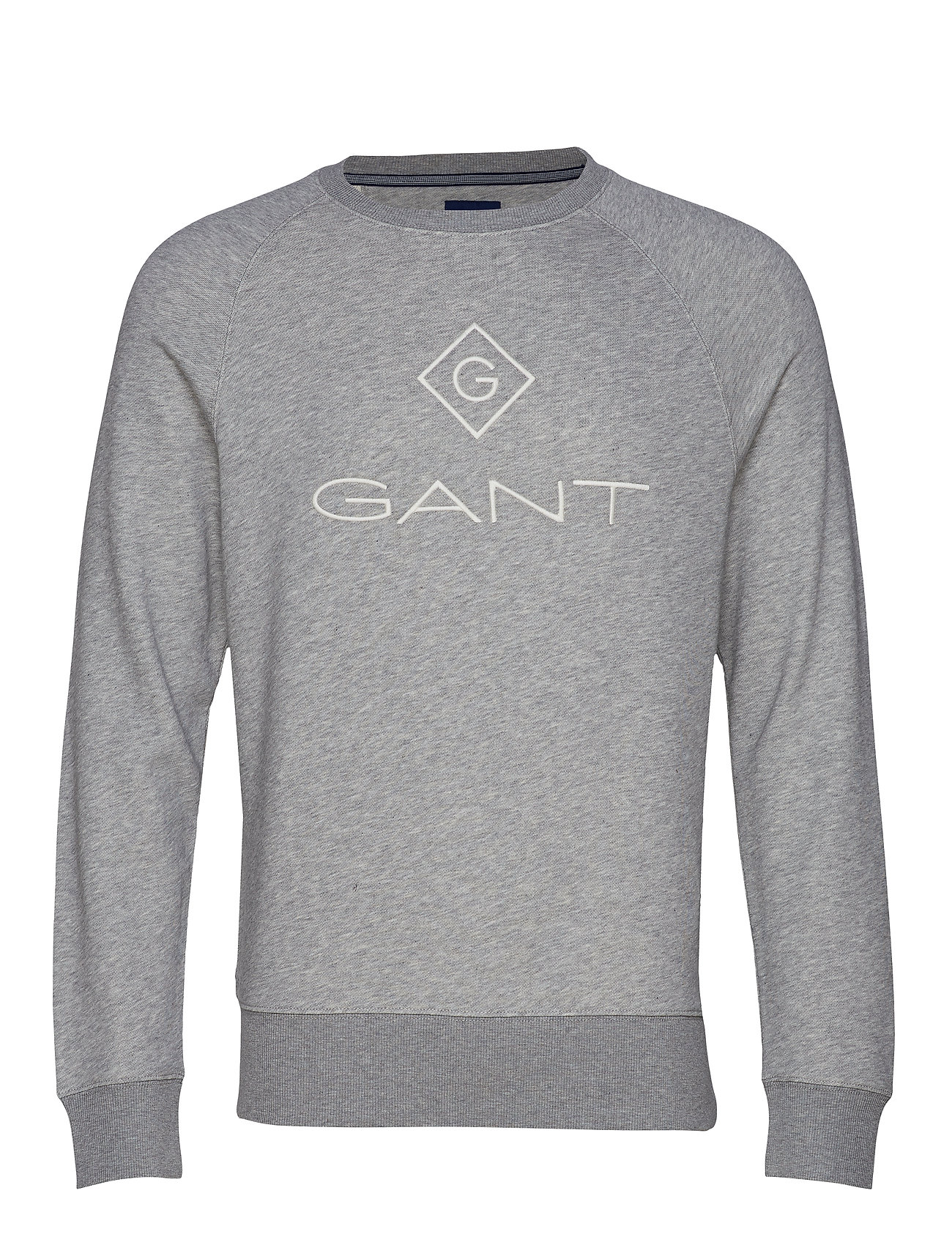 Gant LOCK UP C-NECK SWEAT - GREY MELANGE