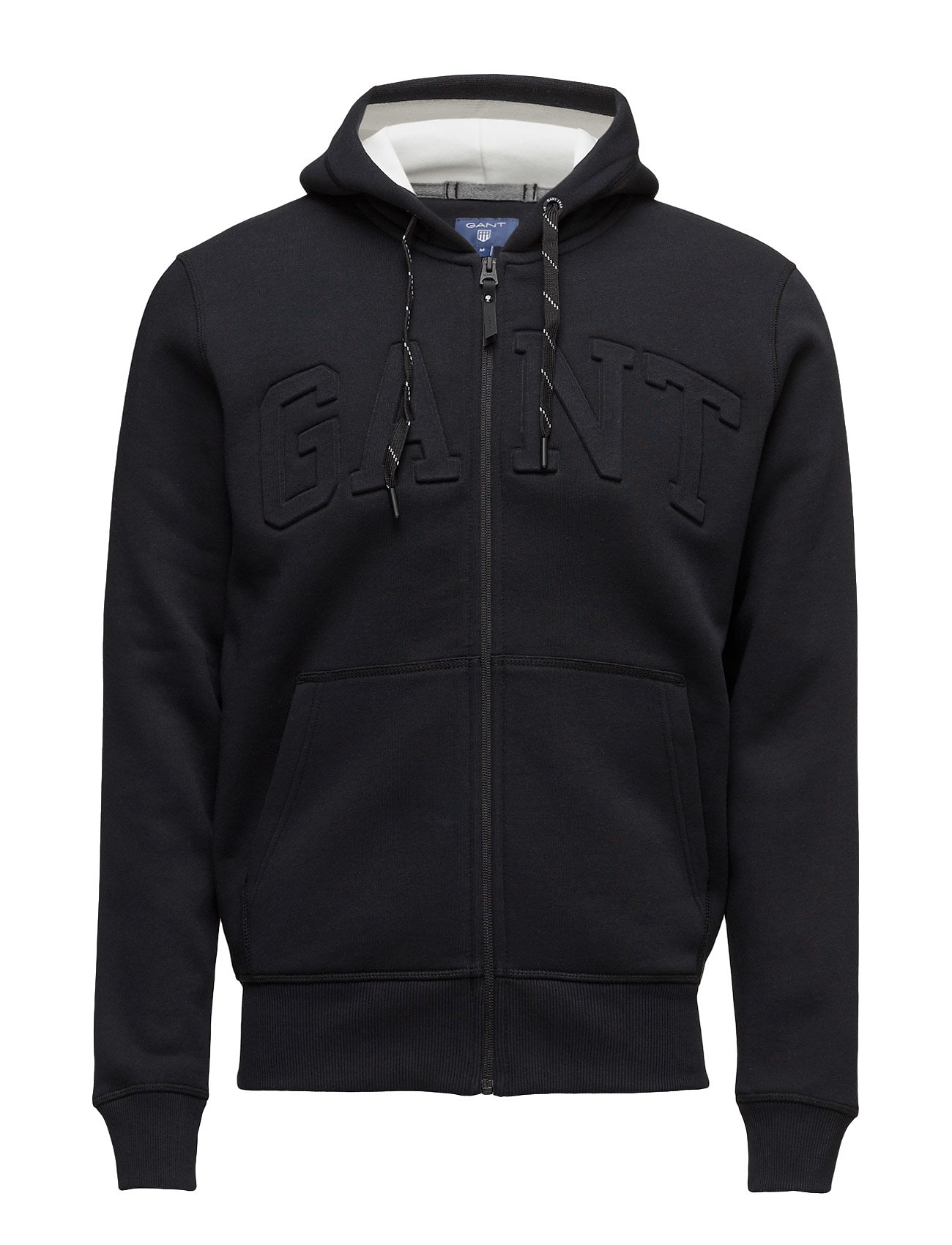 Gant GANT EMBOSSED FULL ZIP SWEAT HOODIE - BLACK