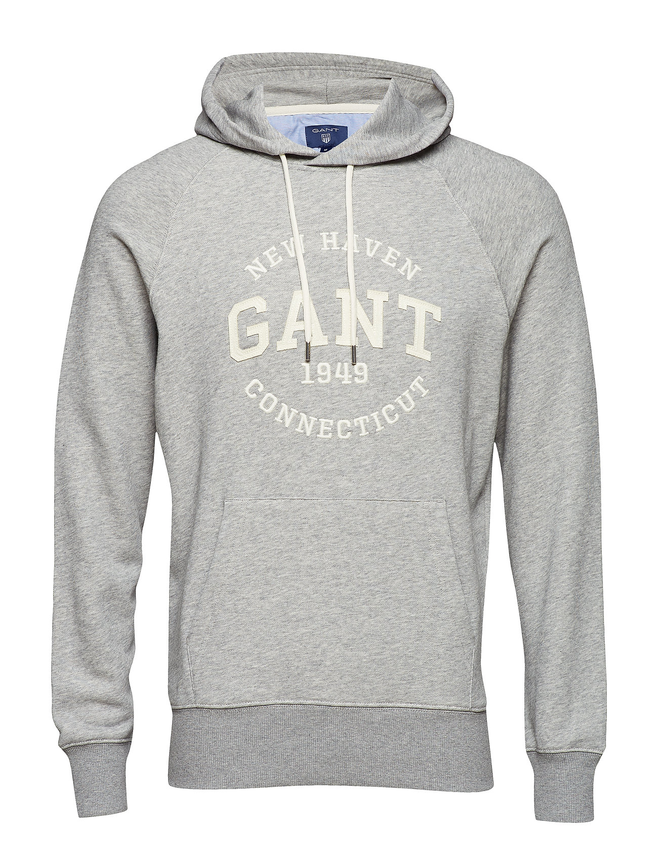 GANT O2. GANT SWEAT HOODIE - GREY MELANGE