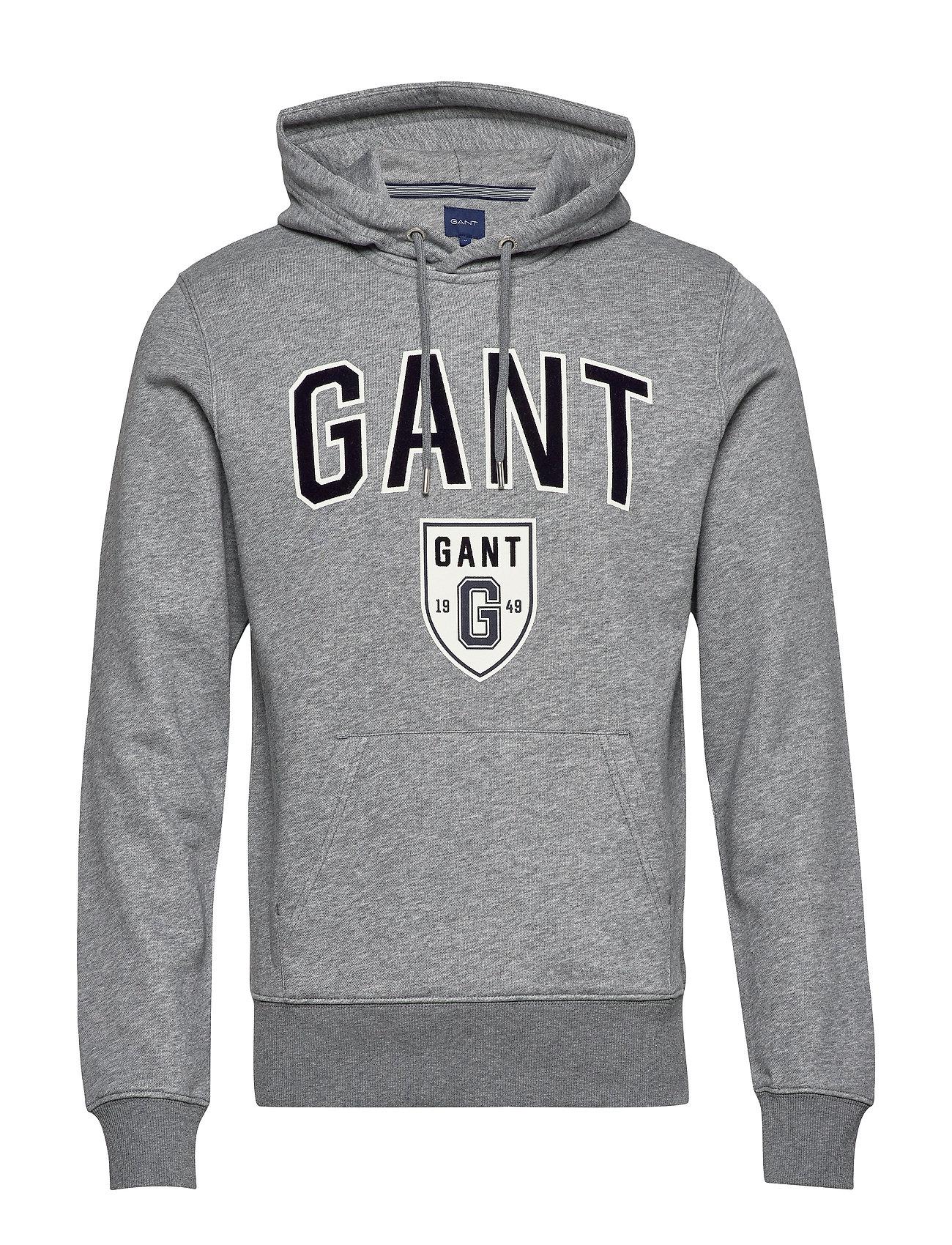 GANT D2. GIFT GIVING SWEAT HODDIE - DARK GREY MELANGE