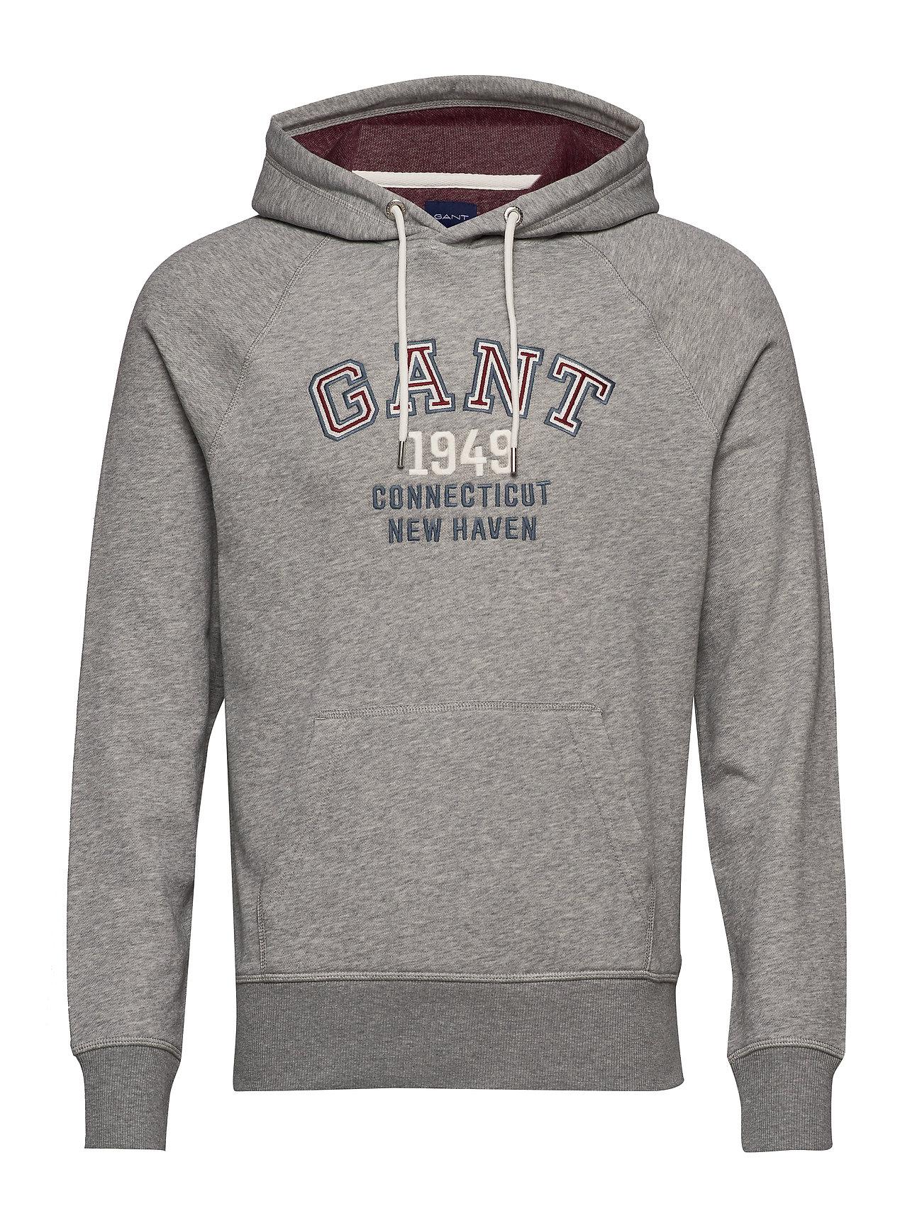Gant D1. GRAPHIC SWEAT HOODIE - GREY MELANGE