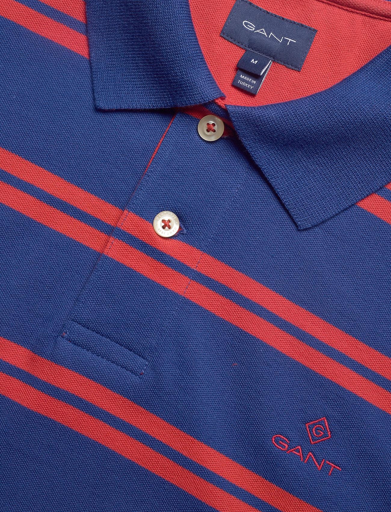 GANT D1. CONTRAST STRIPE COLLAR - Poloskjorter CRISP BLUE - Menn Klær