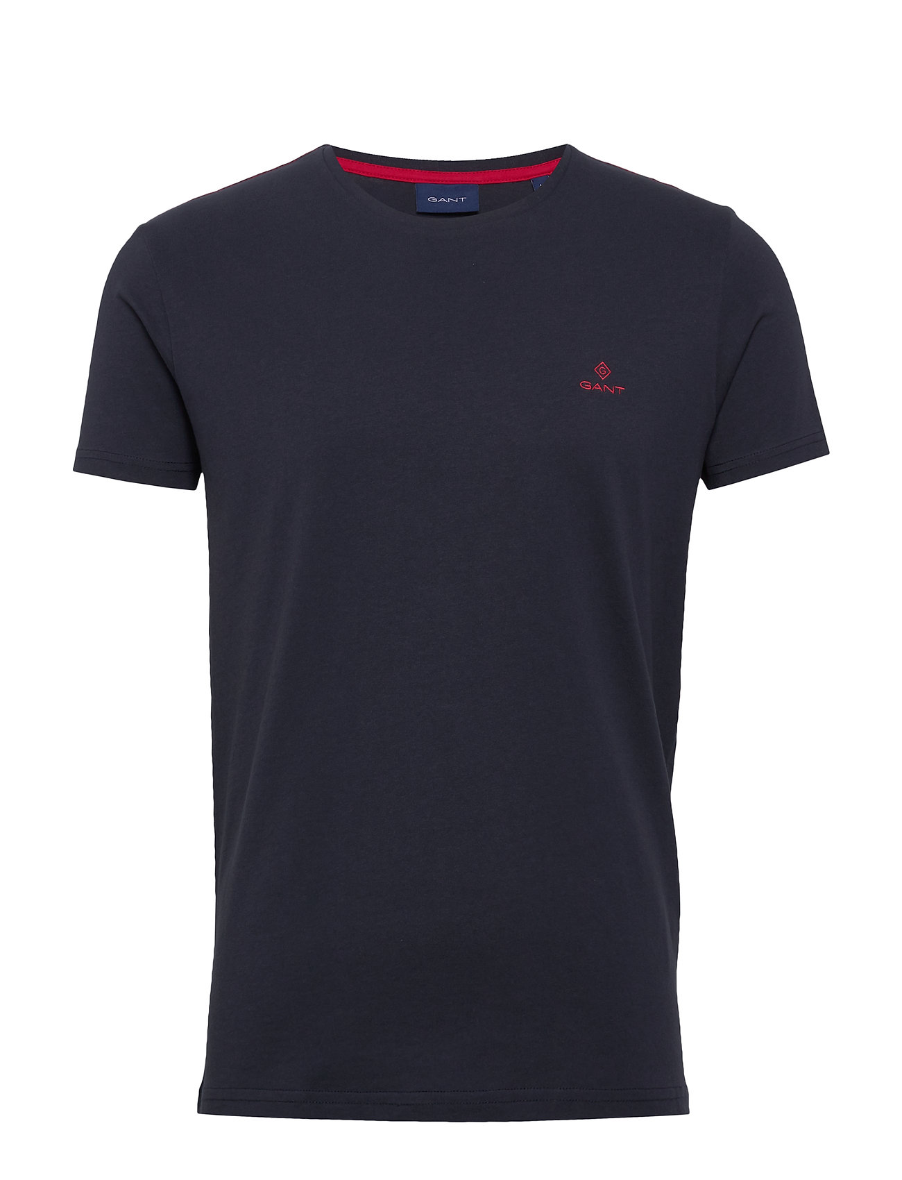Gant CONTRAST LOGO SS T-SHIRT - EVENING BLUE