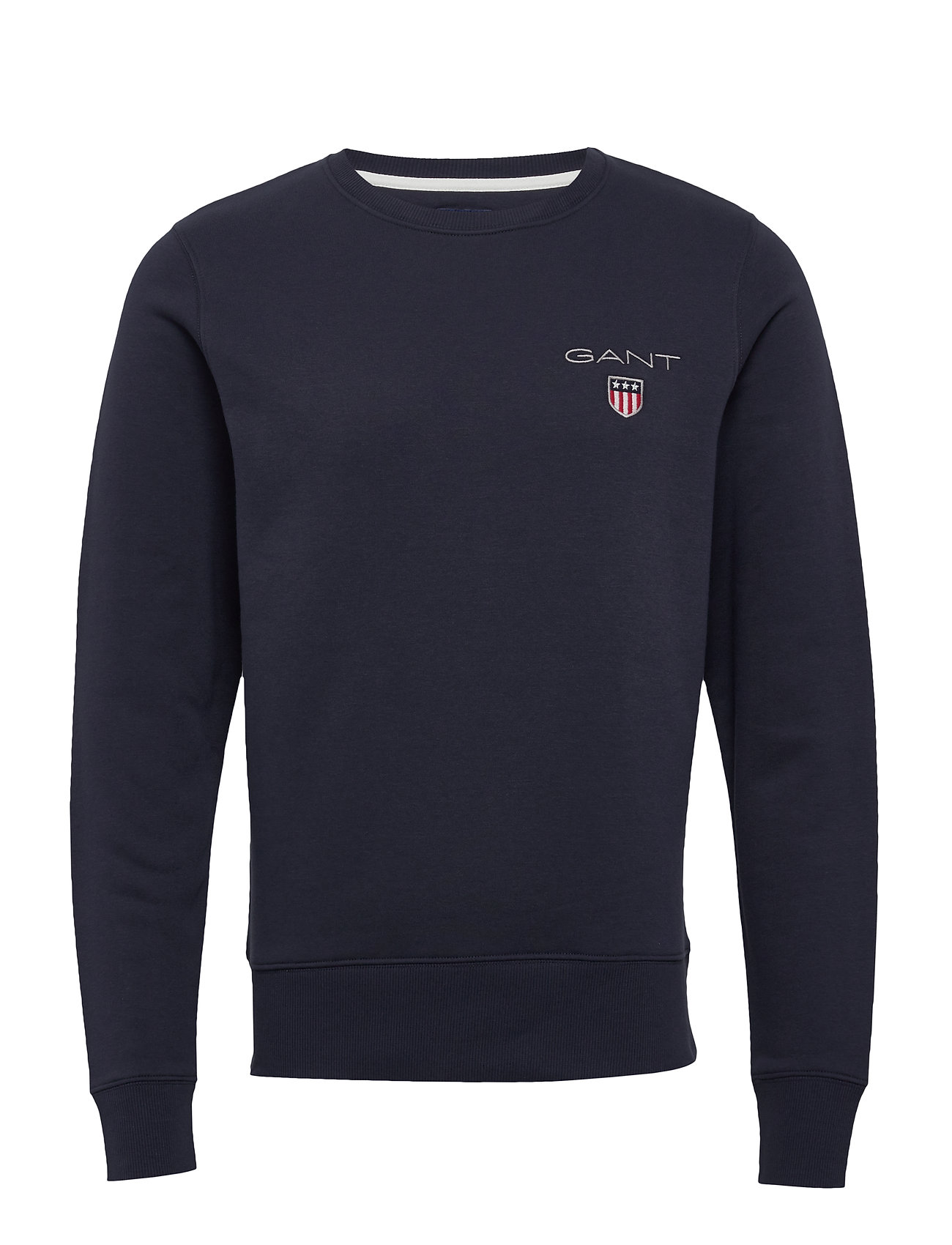 Gant D1. MEDIUM SHIELD C-NECK SWEAT - EVENING BLUE
